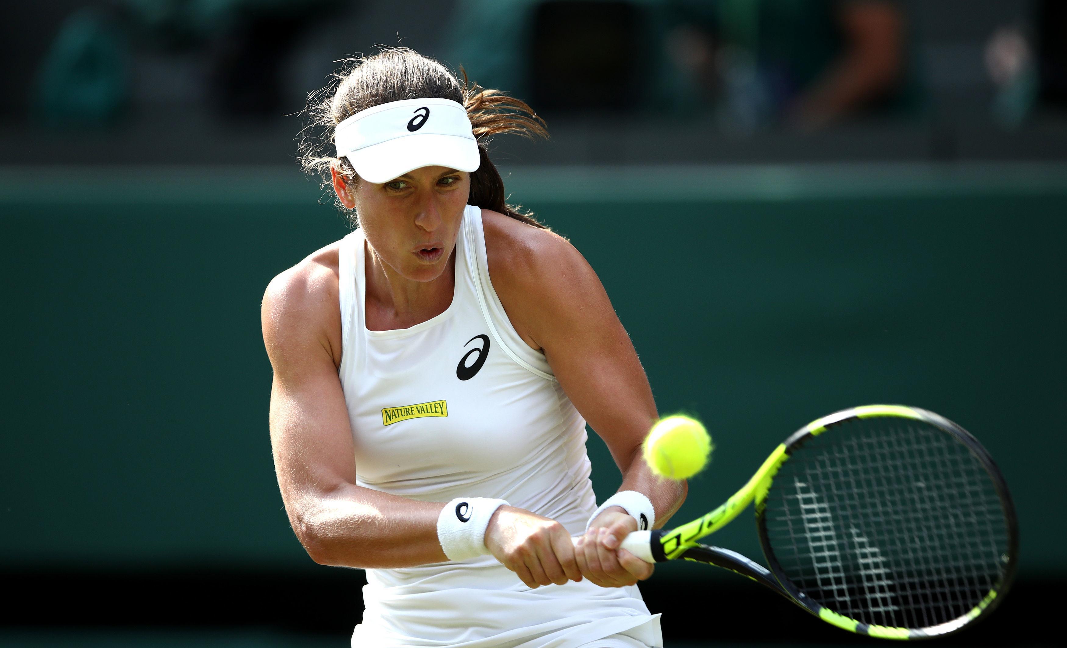 Jo Konta was seeded No22 at Wimbledon but crashed out toDominika Cibulkova