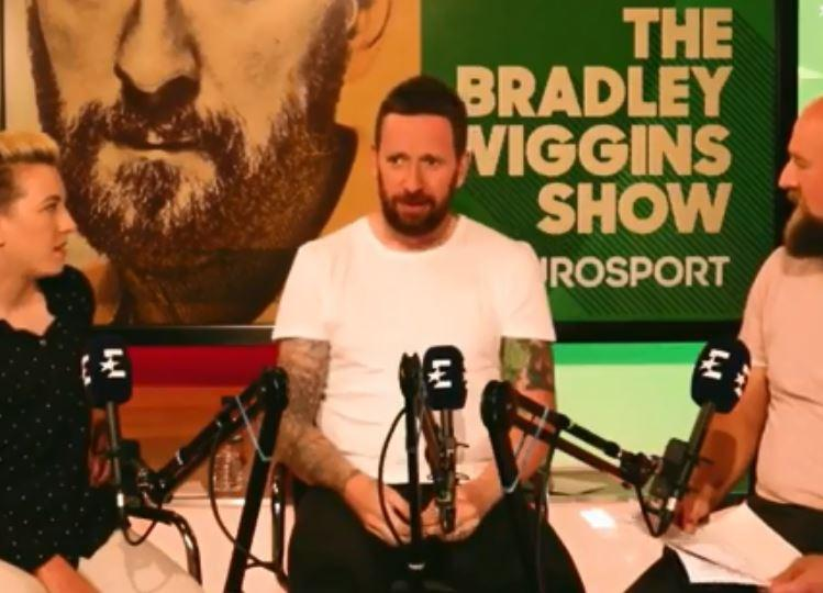 Bradley Wiggins has been doing various media commitments during the Tour de France with a podcast for Eurosport and a guest appearance on ITV