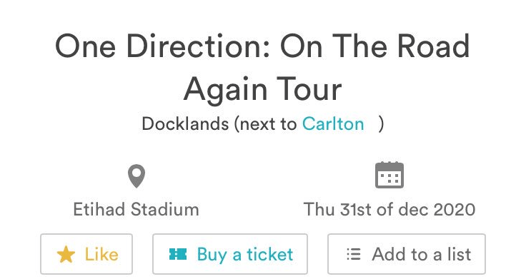 One Direction Aftermath Tour 2020 One Direction Tour Dates 2020 Ticketmaster | Myvacationplan.org