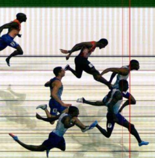 The photo finish showed how close Hughes and Prescod were on the line