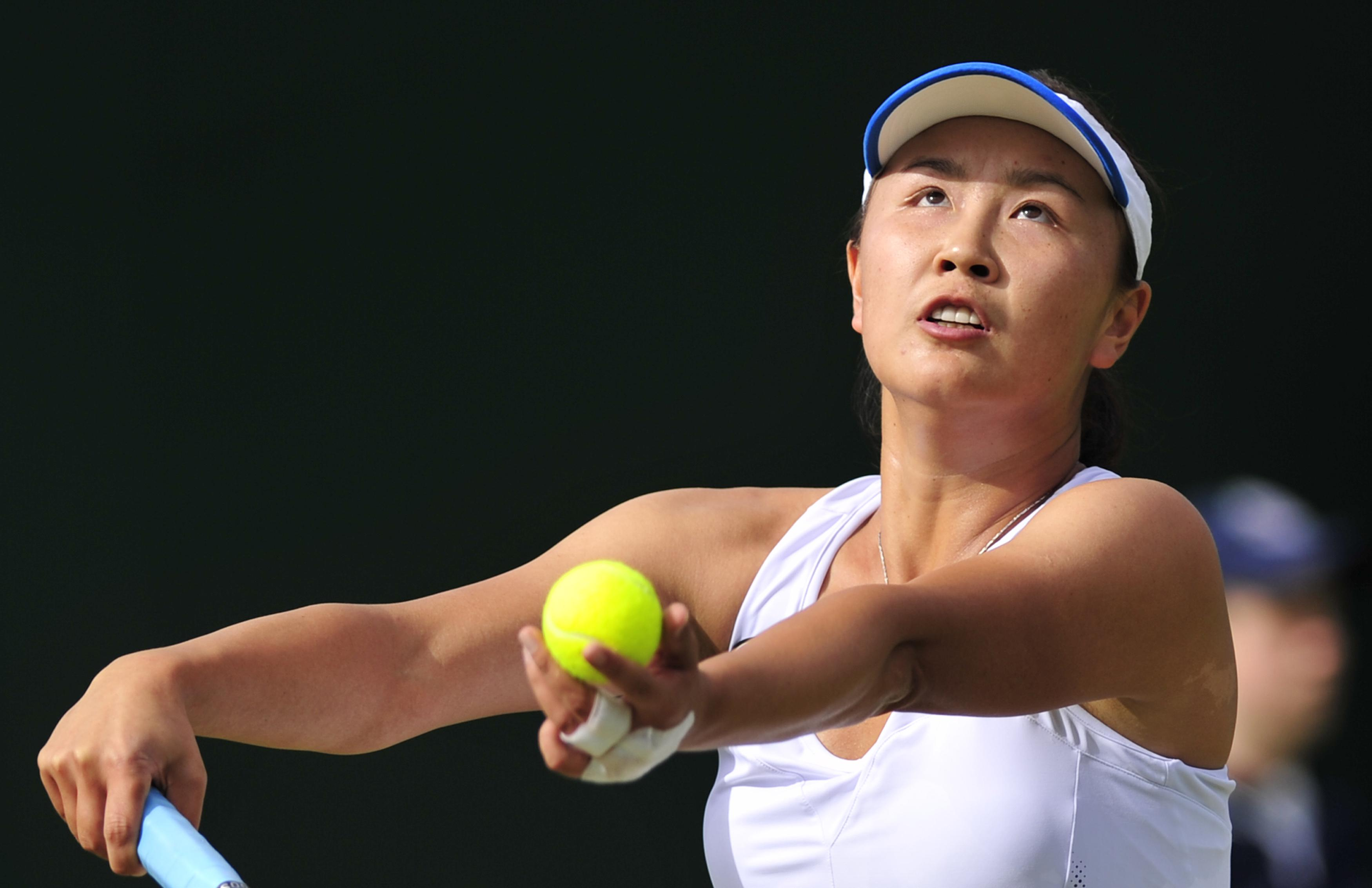 Chinese tennis star Peng Shuai has been banned six months for trying to change her partner at Wimbledon 2017