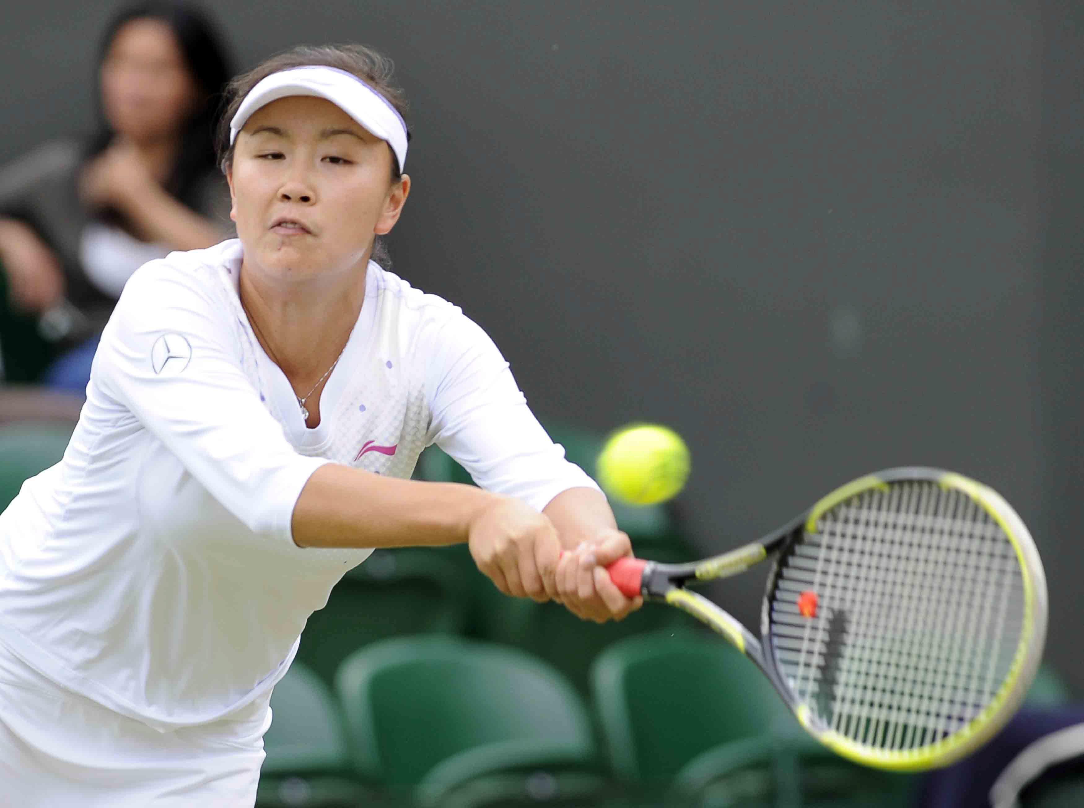 Peng was ranked No 1 in the world in women's doubles in 2014