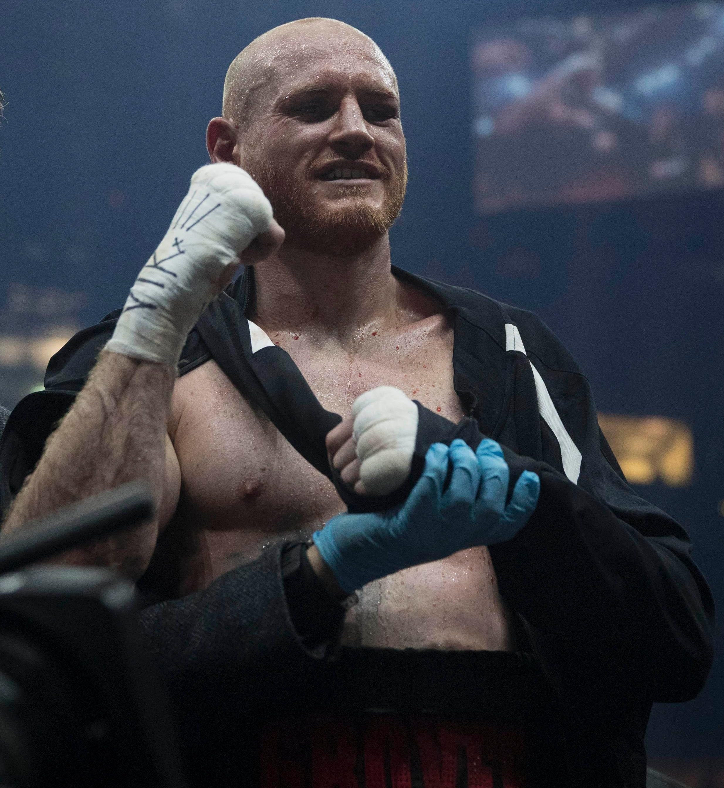 George Groves dislocted his shoulder in the final round of his war against Chris Eubank Jr