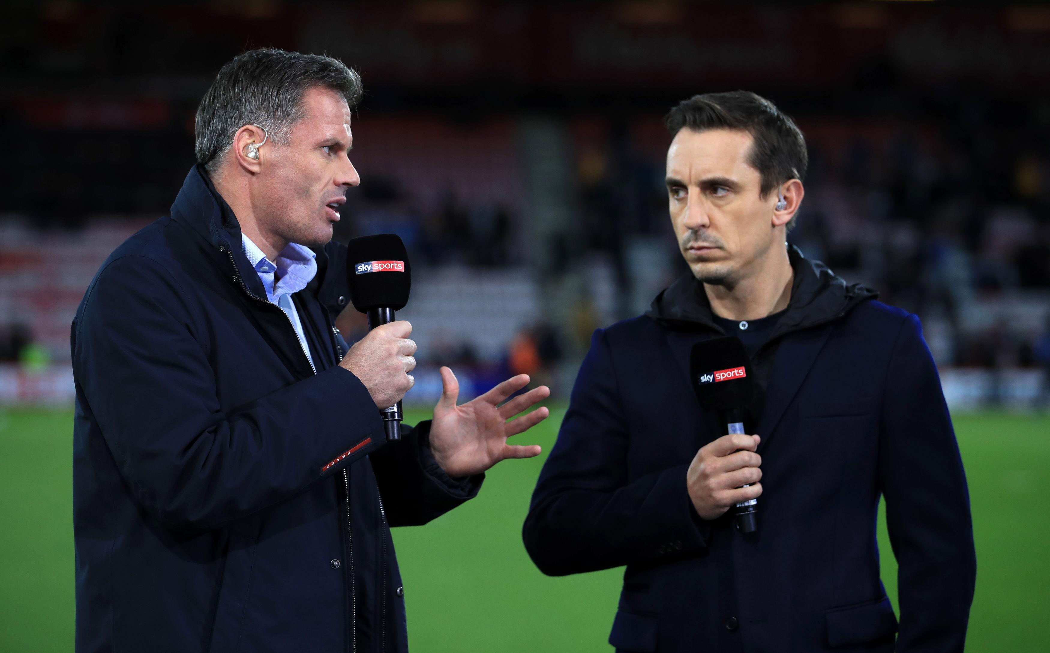"""Gary Neville labelled Arsenal a """"pub team"""" on Twitter"""