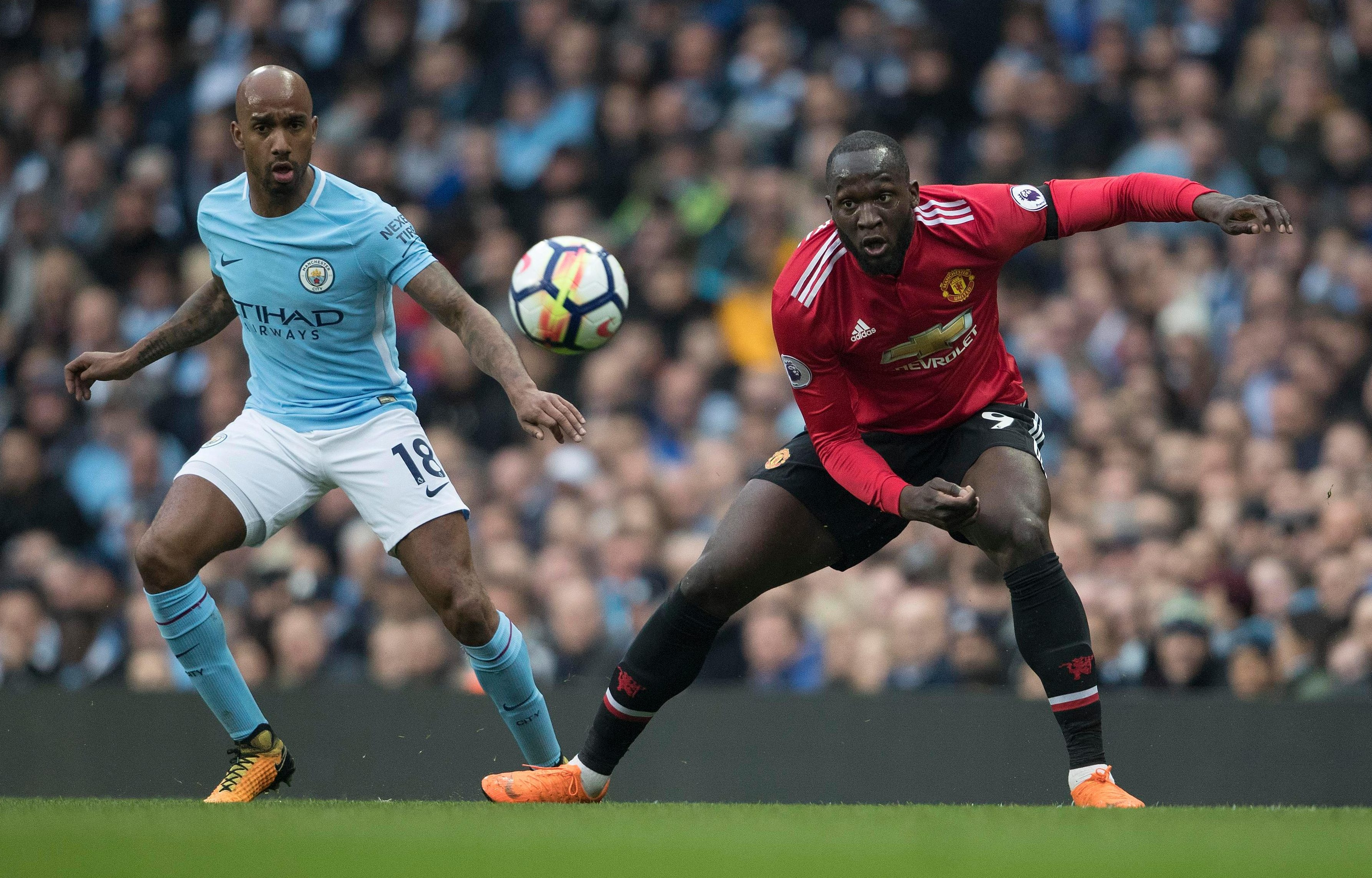 Fabian Delph played 90 minutes for City at left-back against United