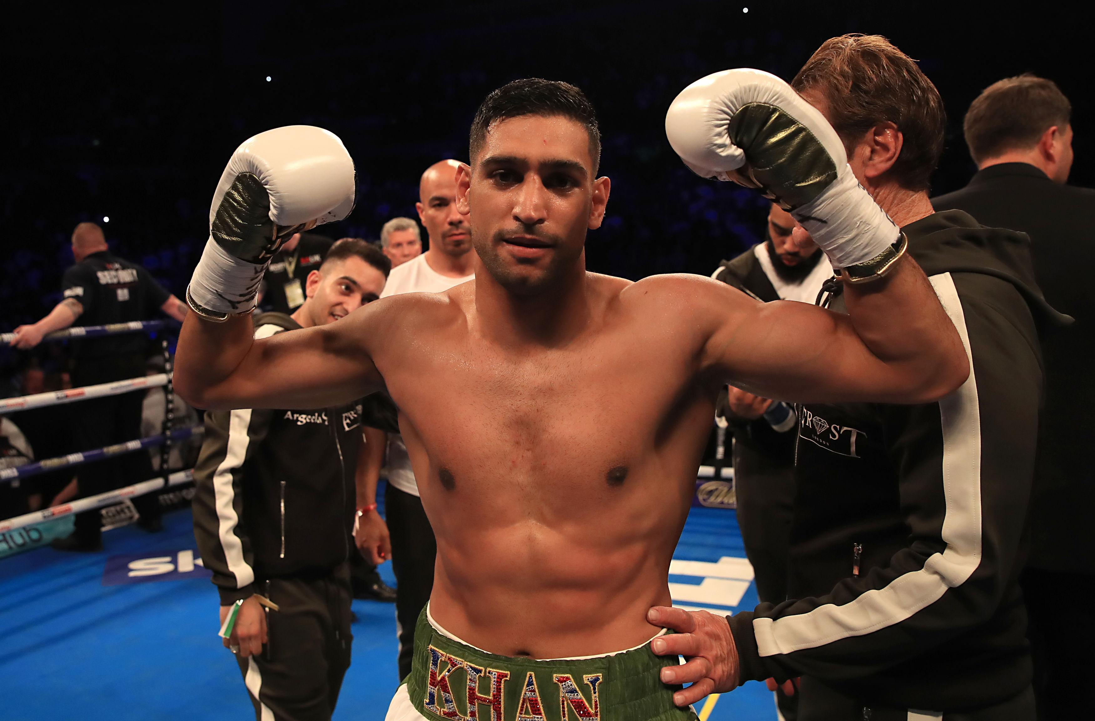 Amir Khan is in training ahead of his return to the ring
