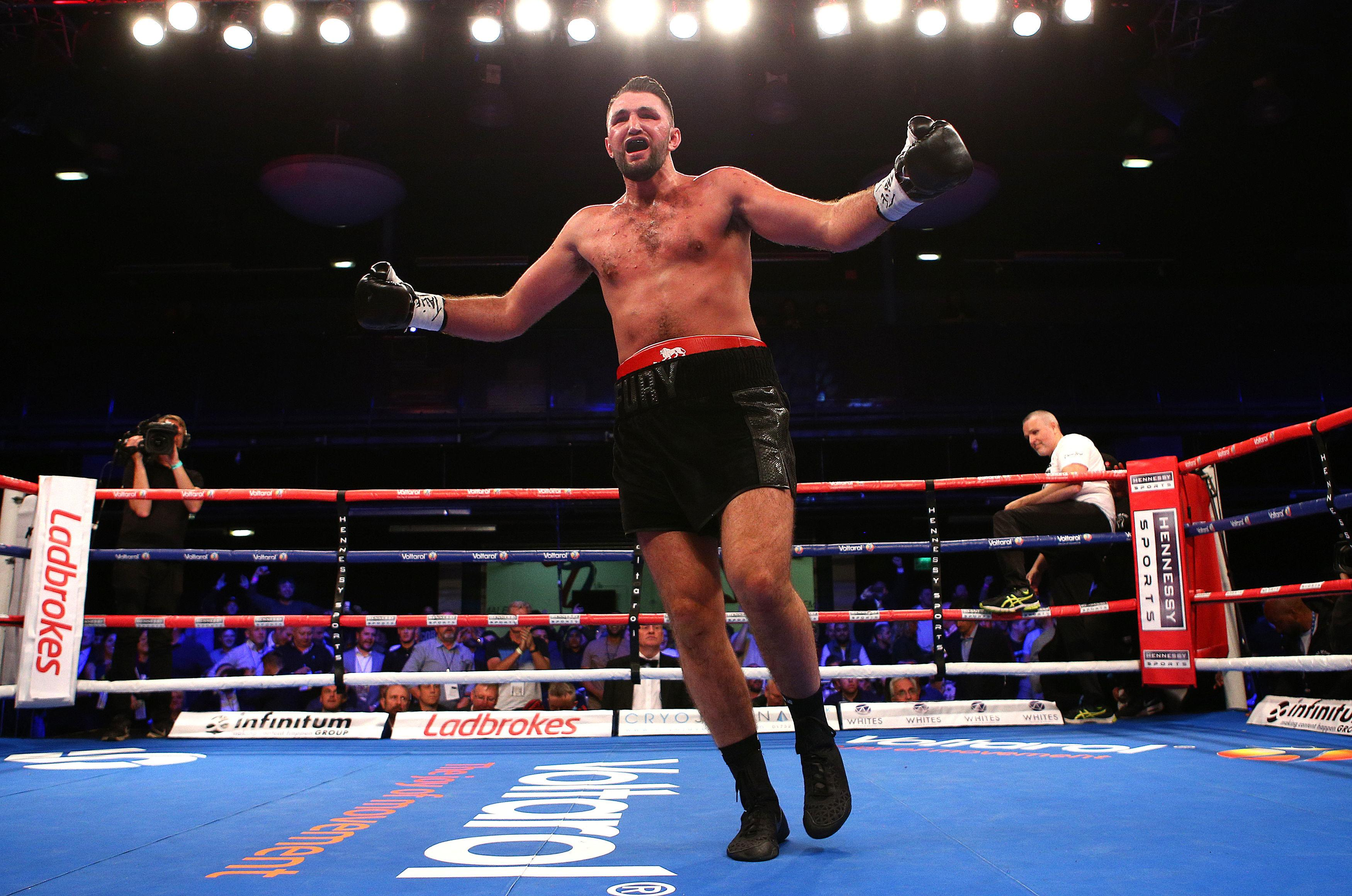 Hughie Fury is one fight off challenging for the IBF world title - currently held by Anthony Joshua
