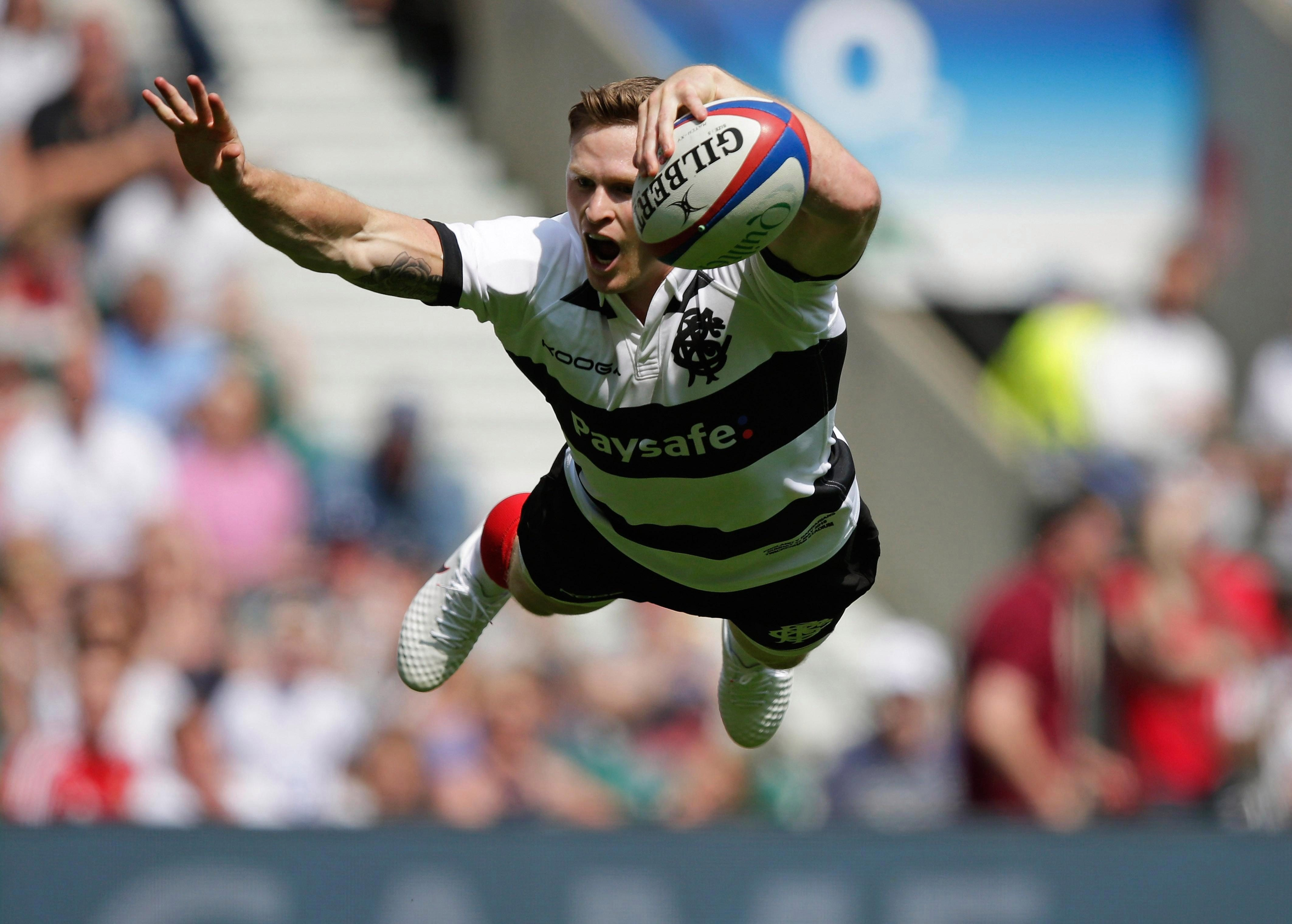 Ashton scored a hat-trick for the Barbarians against England in May