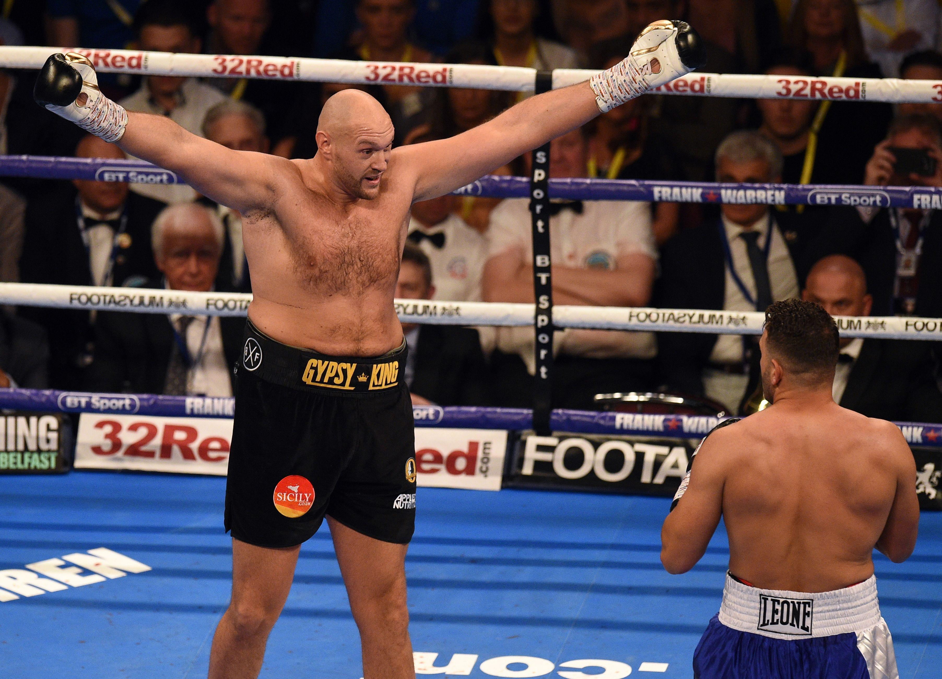 Tyson Fury teased Sefer Seferi during the heavyweight clash in June
