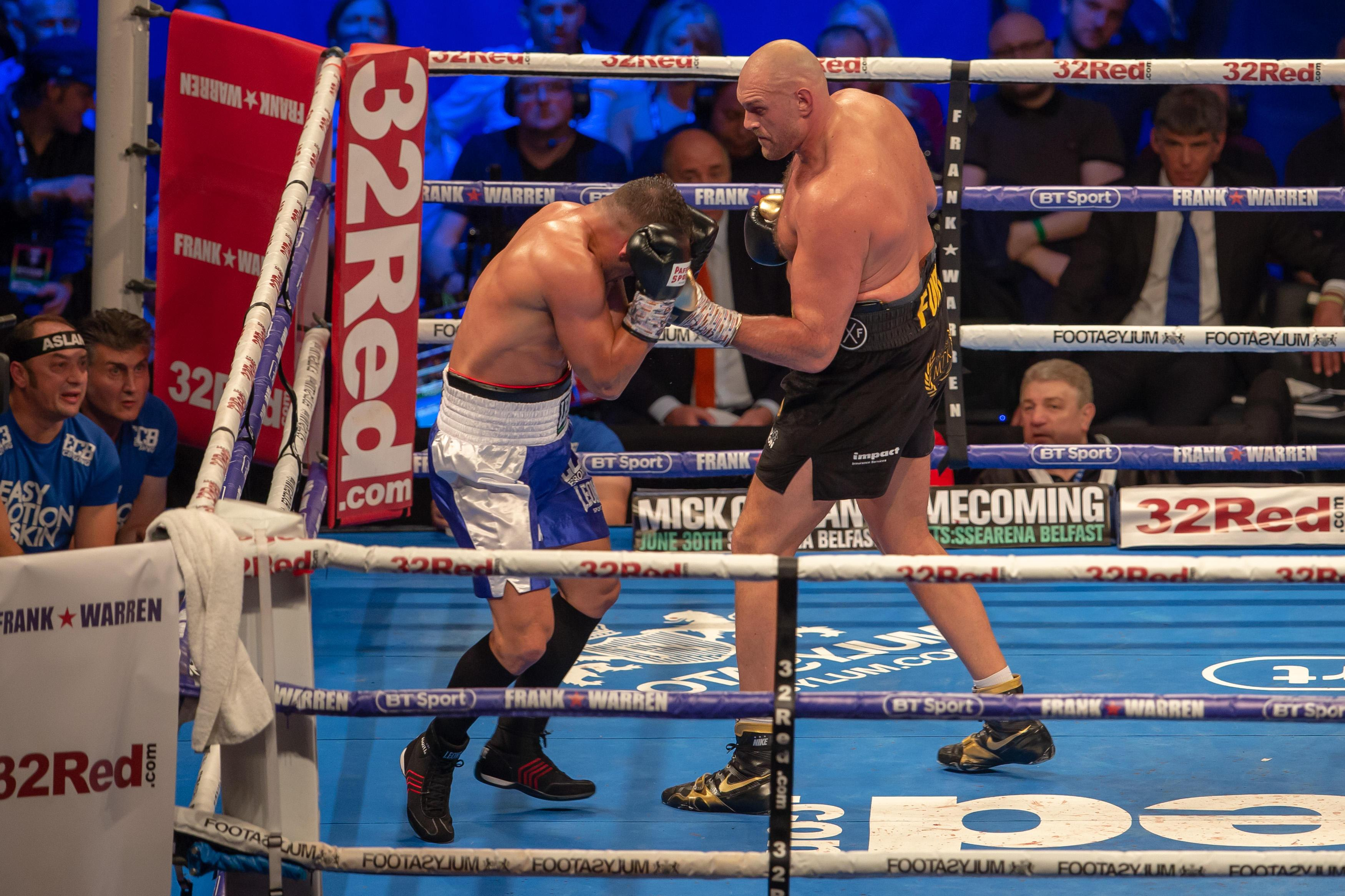 Fury, 30, is coming off the back of a win against Sefer Seferi