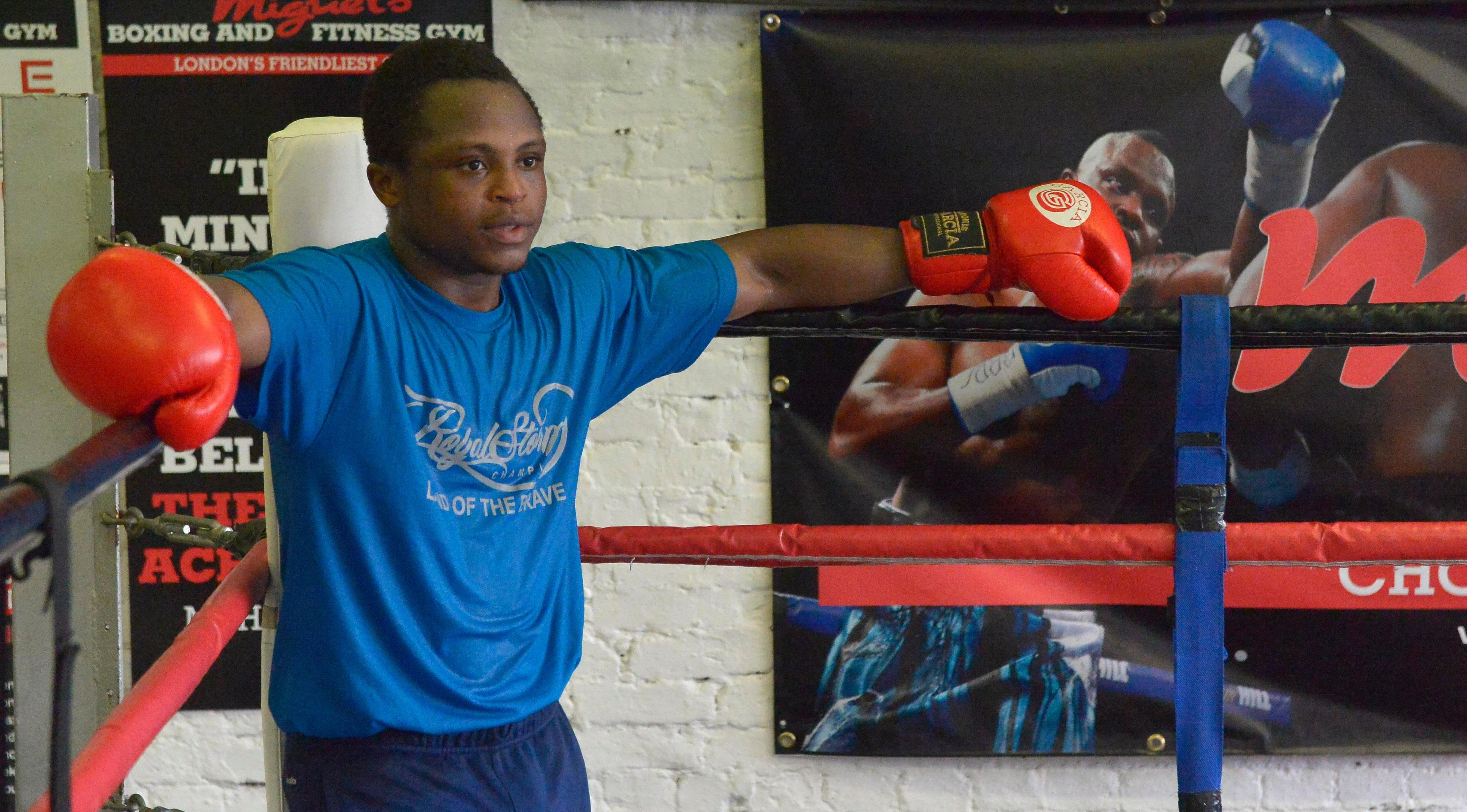 At Miguel's gym in Brixton, 5ft 4in Dogboe is a rapidly rising star