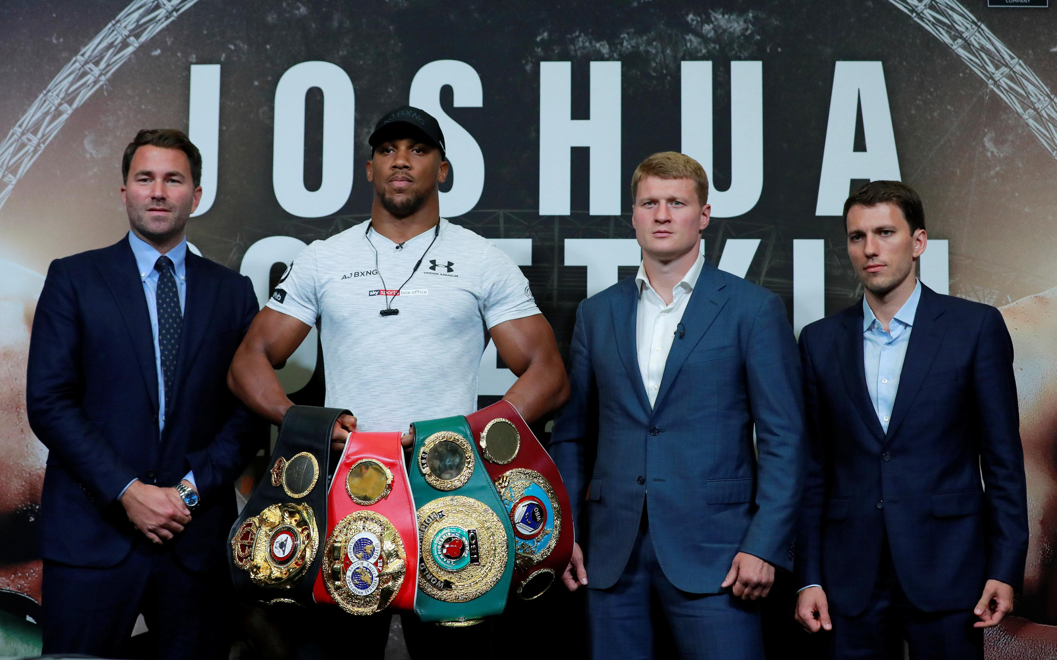 Joshua was expected to have a unification fight with Wilder but must take on Alexander Povetkin as the WBA's mandatory challenger