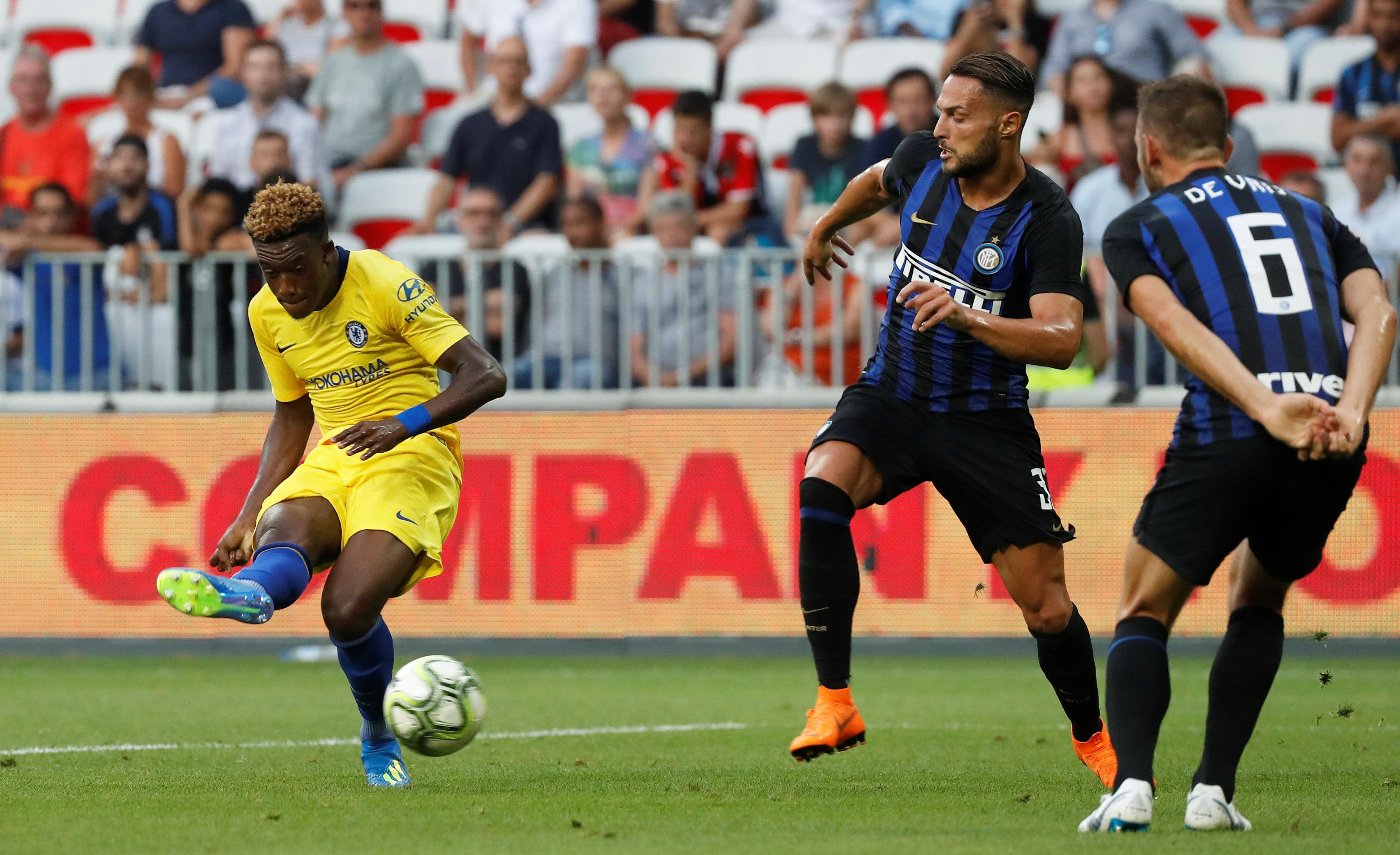 Hudson-Odoi in action against Inter Milan in pre-season