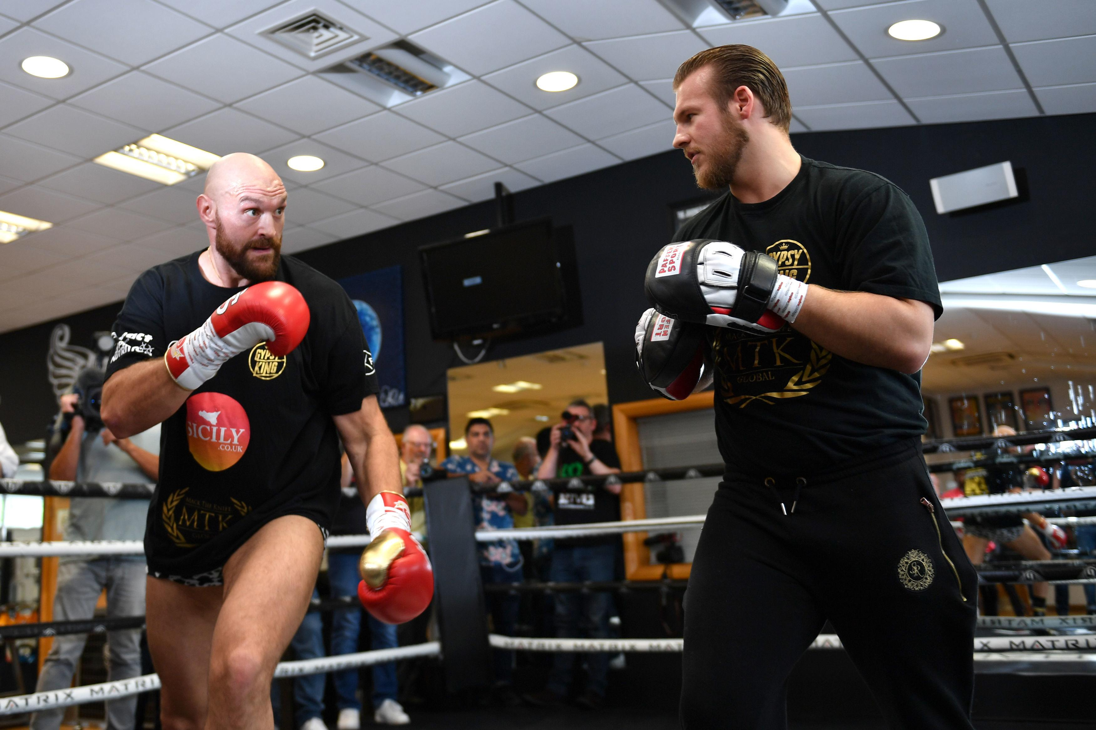 Tyson Fury is training for his second cemeback fight on August 18 - but he is already planning for a crack at Deontay Wilder's WBC belt