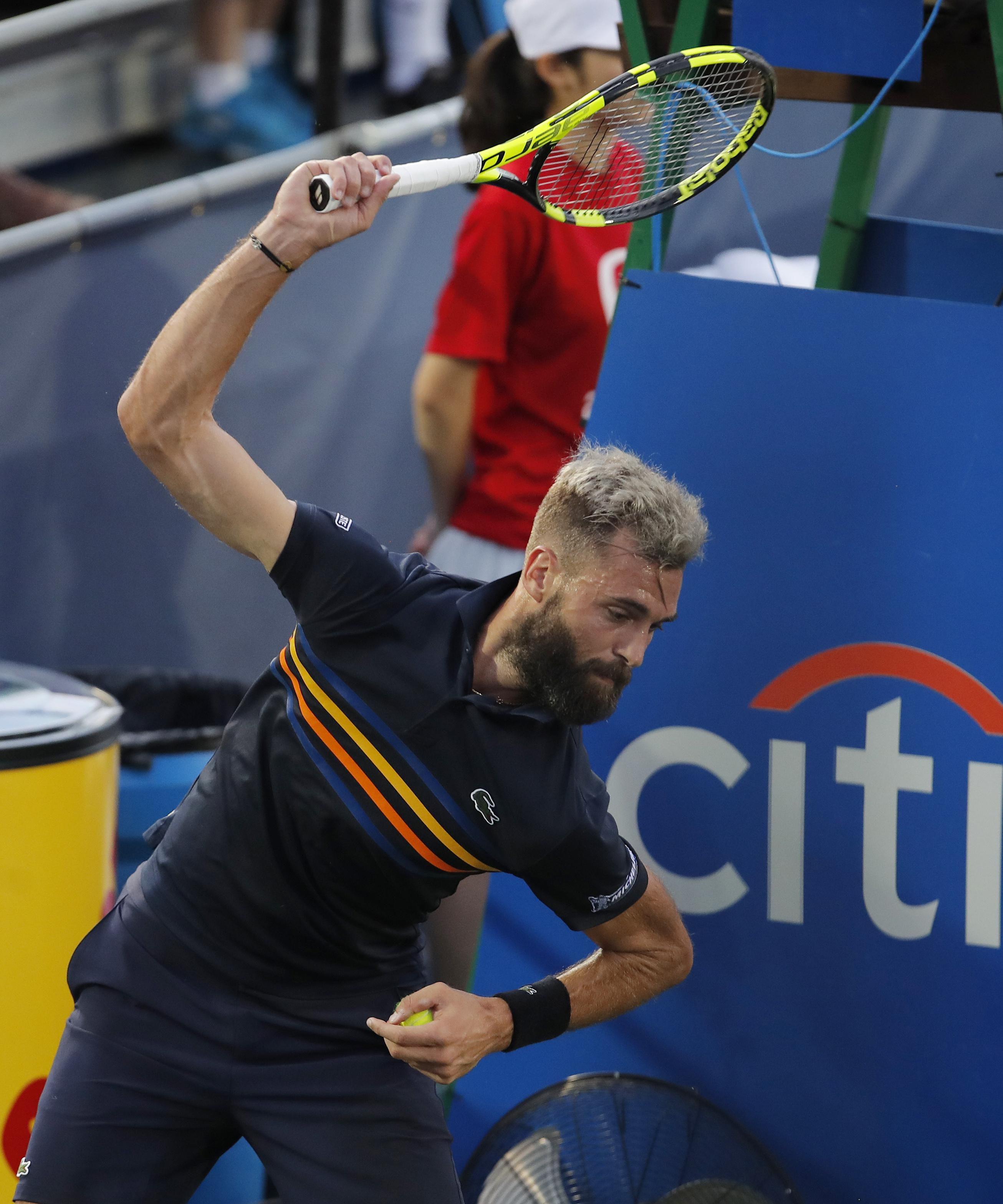 Paire had a temper tantrum after losing a point to put Baghdatis one game from victory