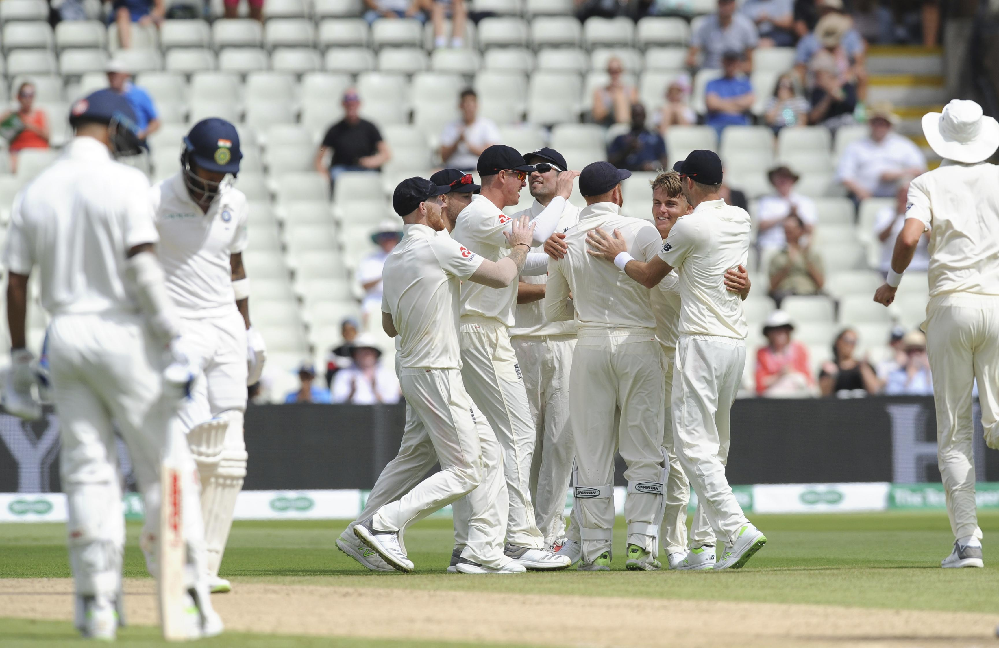 Sam Curran took three scalps as India crumbled from 50-0 to 59-3
