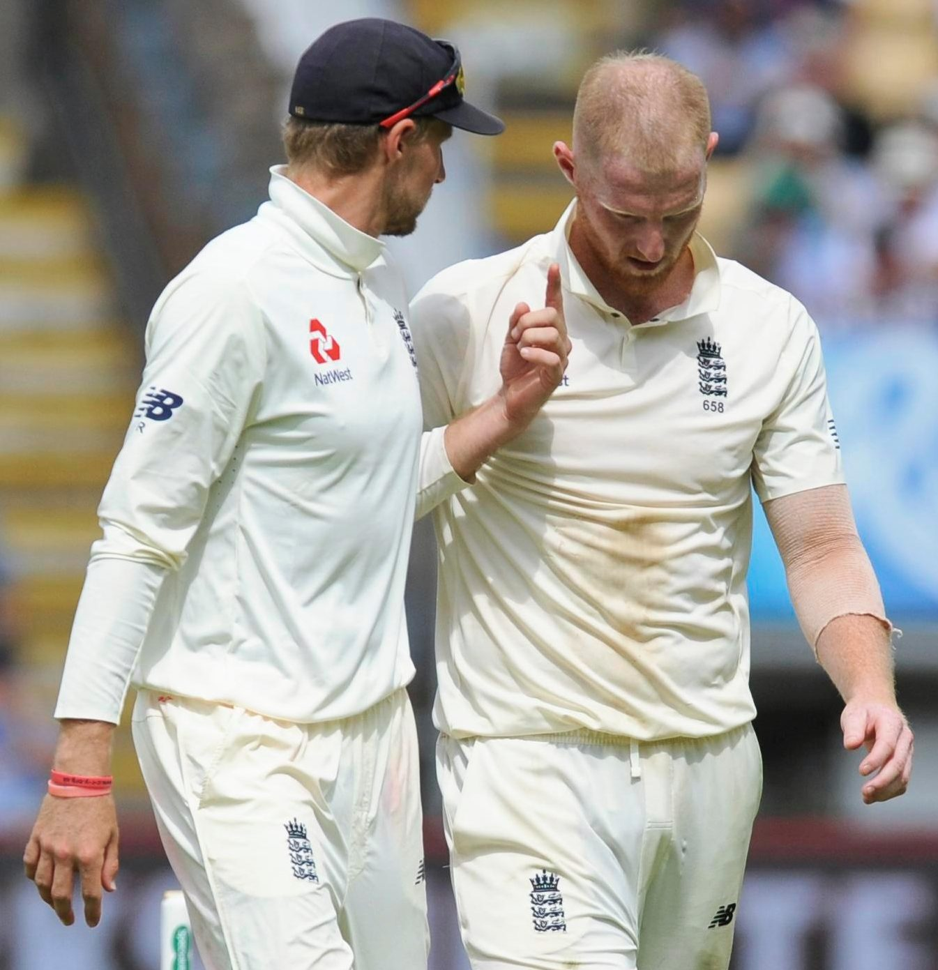 England skipper Joe Root had to do without Ben Stokes for the Second Test