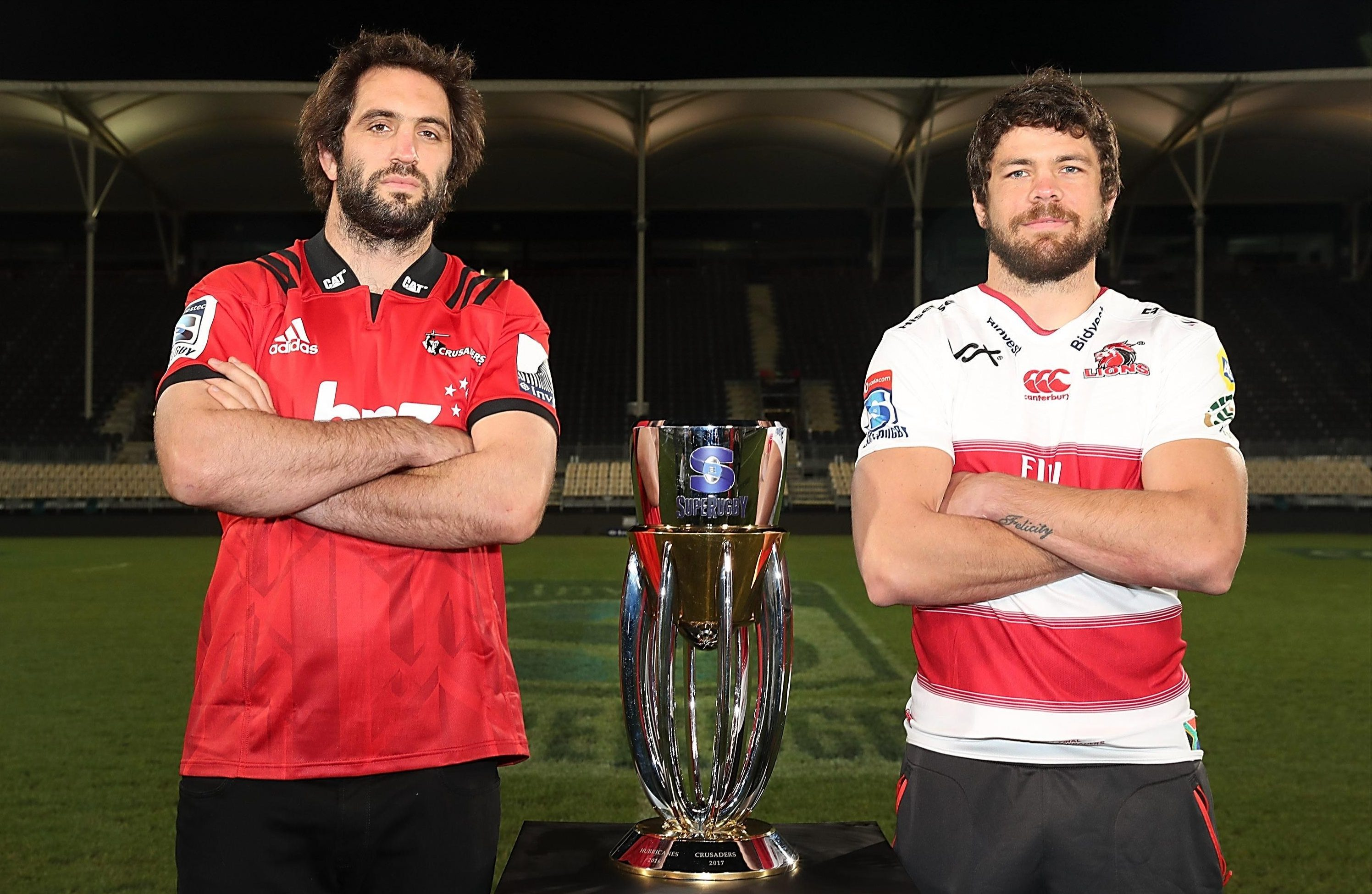 The Crusaders hope to win Super Rugby for the ninth time while the Lions are looking for a maiden victory