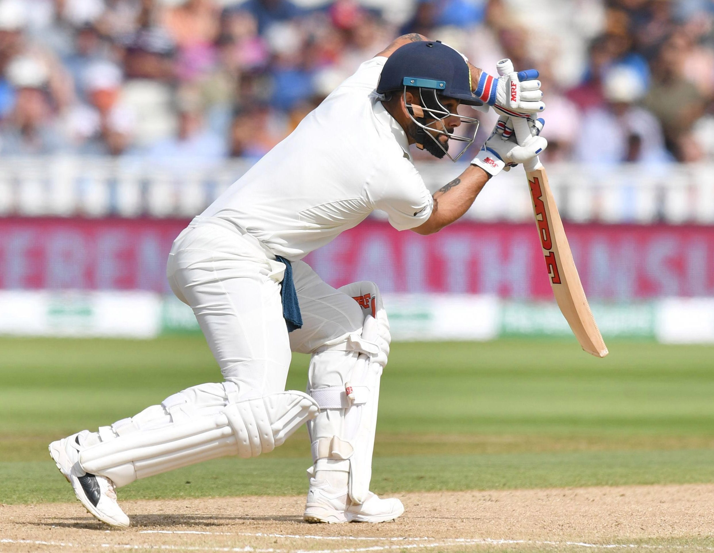 Virat Kohli followed his 149 in the first innings by also top-scoring in the tourists' second knock, with 51