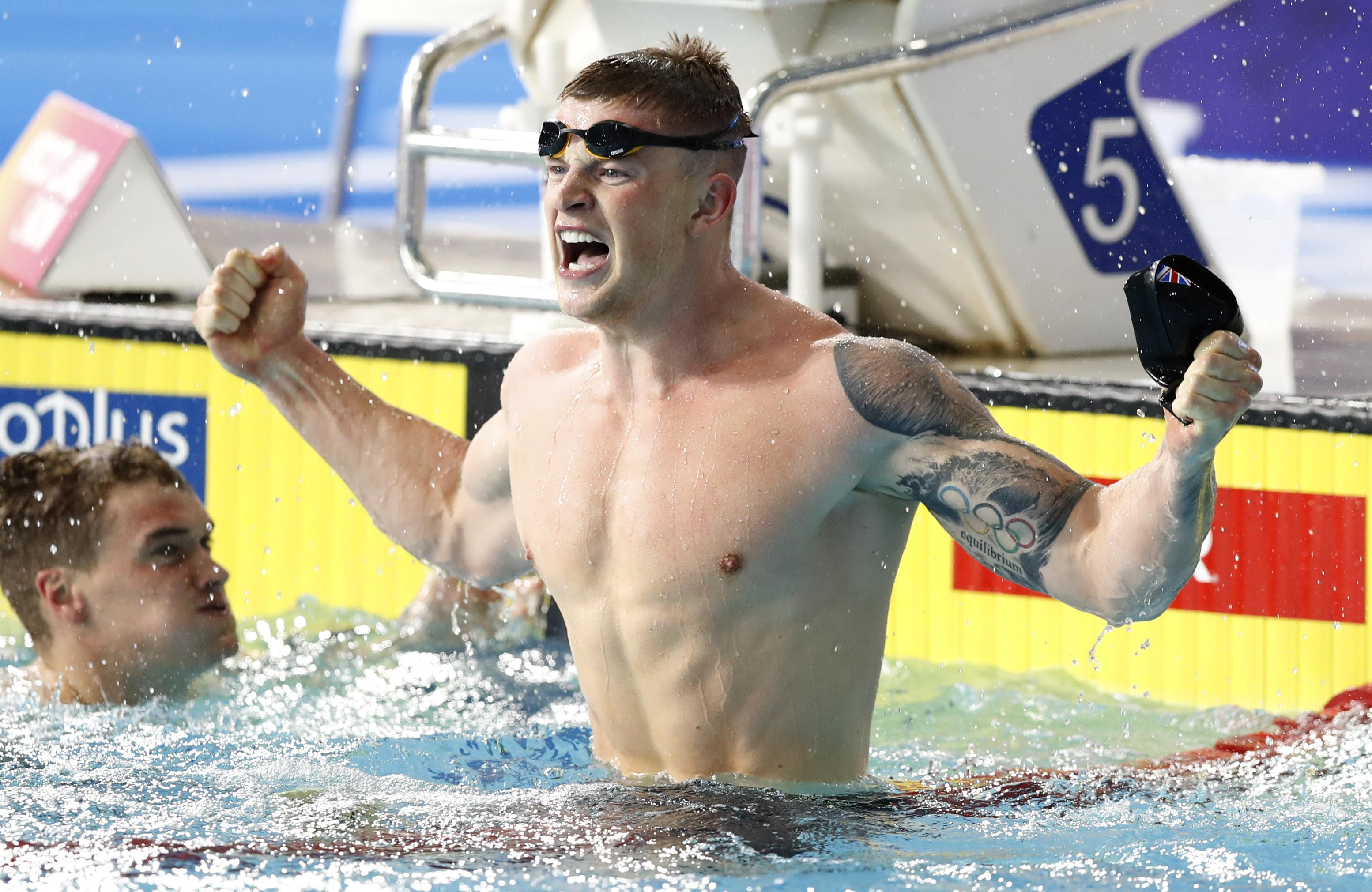 Adam Peaty became the first to swim the 100m breaststroke in 57 seconds