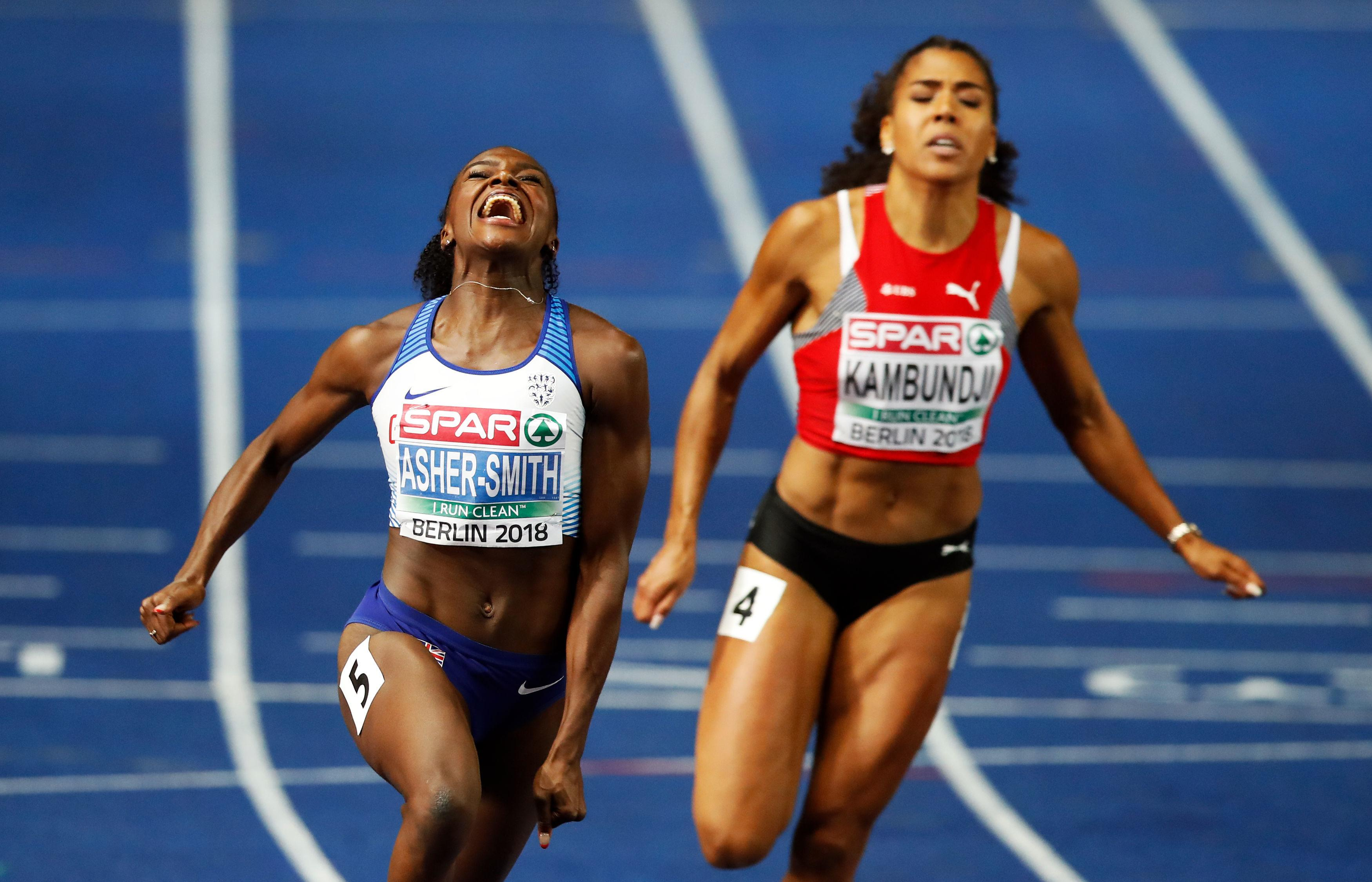 Asher-Smith set two national records and two world leading times in Berlin