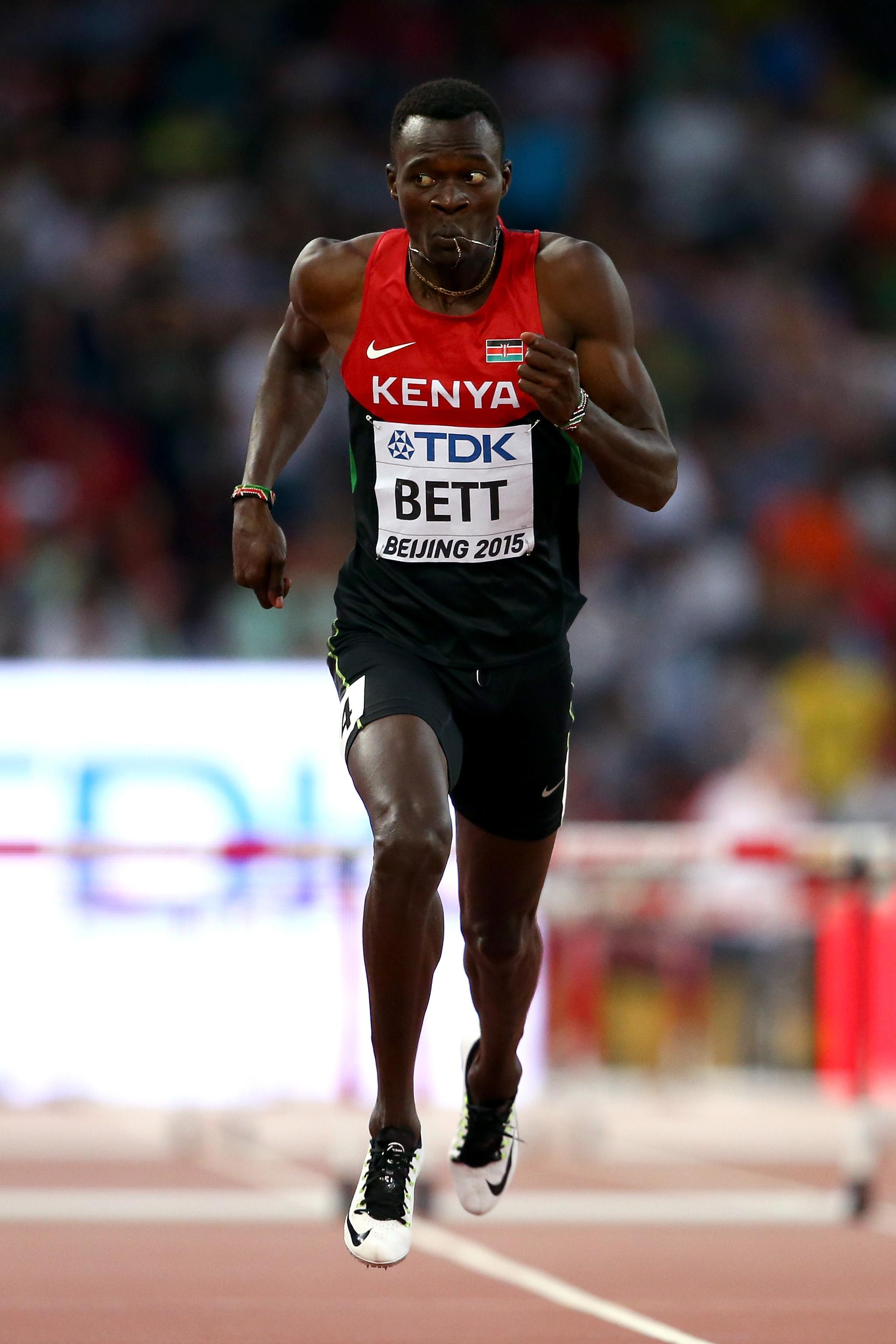 Bett was a 400m hurdles runner and was a hero in Kenya after winning gold at the World Championships in 2015