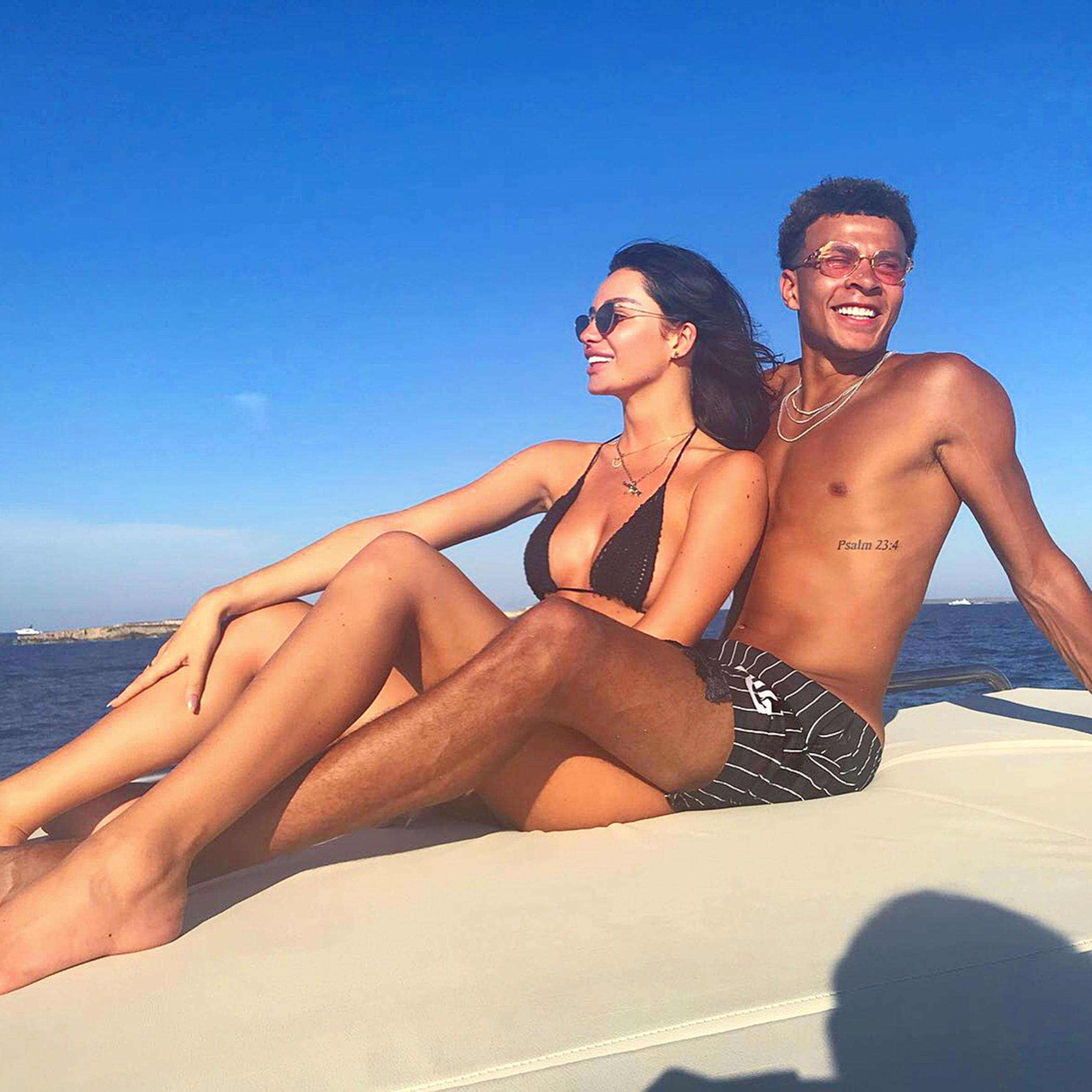 Dele Alli's model girlfriend Ruby Mae has been sharing snaps of the couple on Instagram