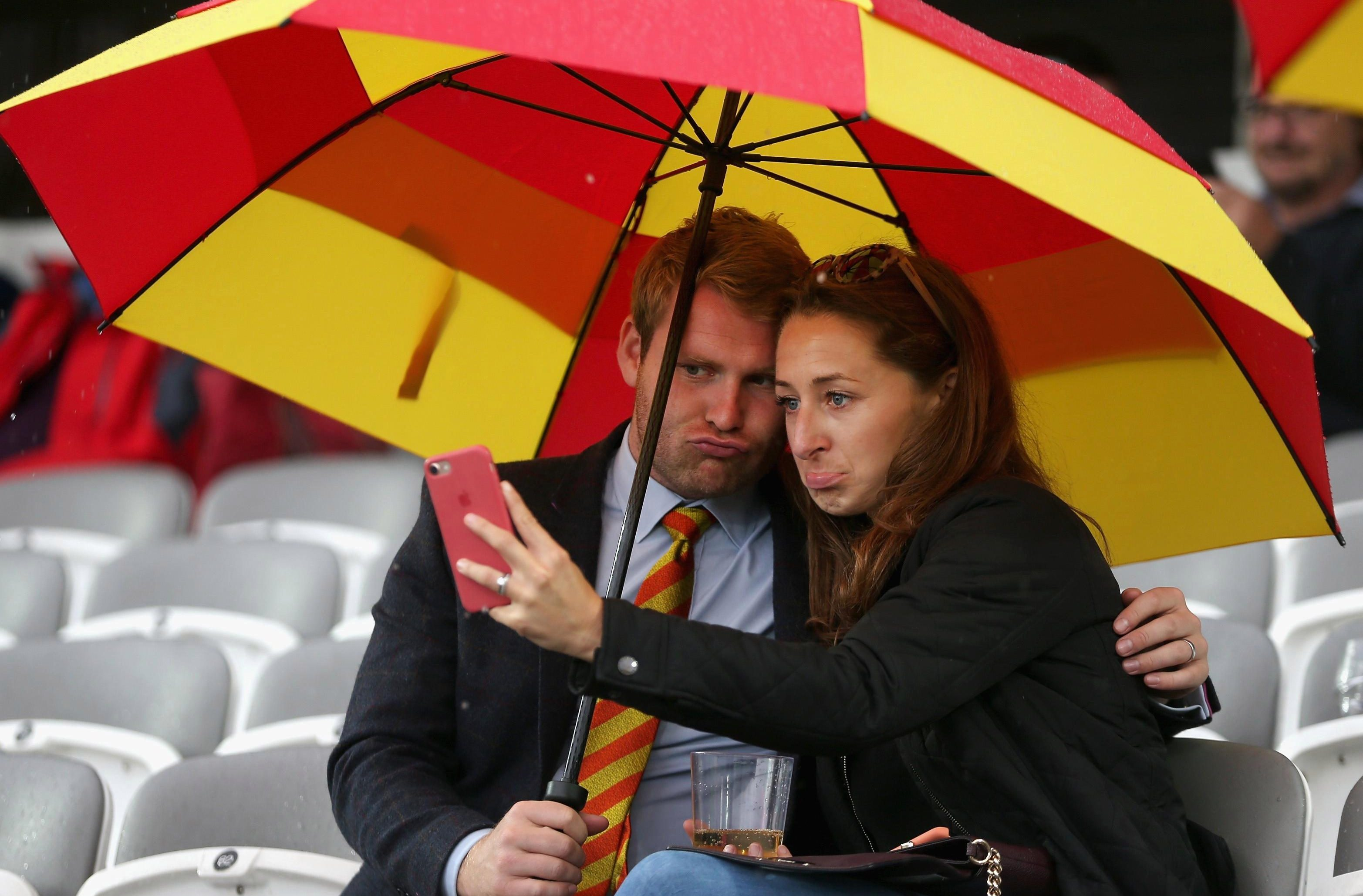 Spectators were frustrated by the weather on Friday