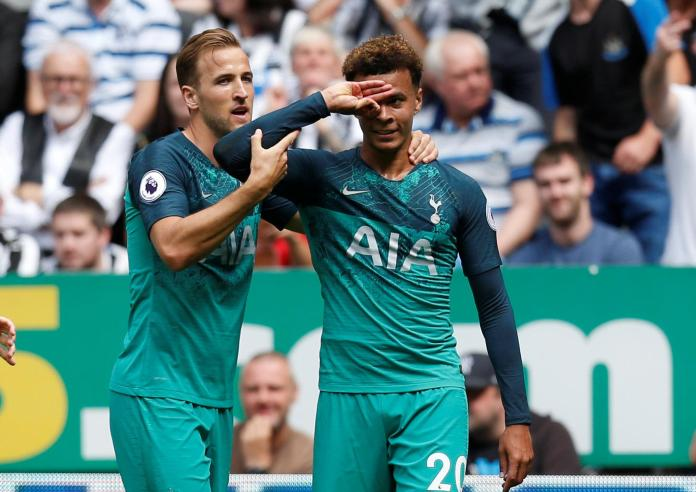Dele Alli's, right, hand celebrations have created a social media frenzy