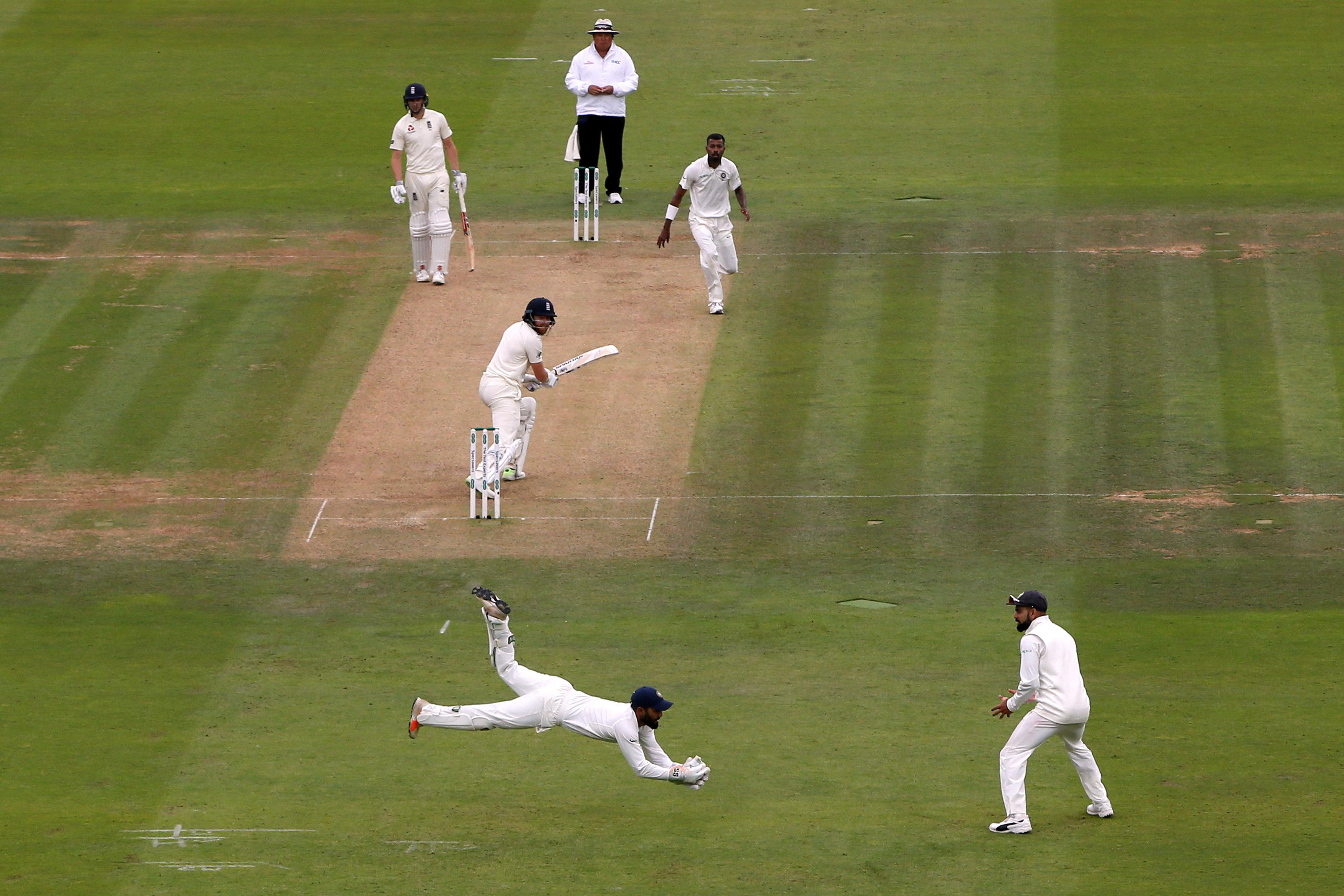 Bairstow was out thanks to a brilliant catch by Dinesh Karthik