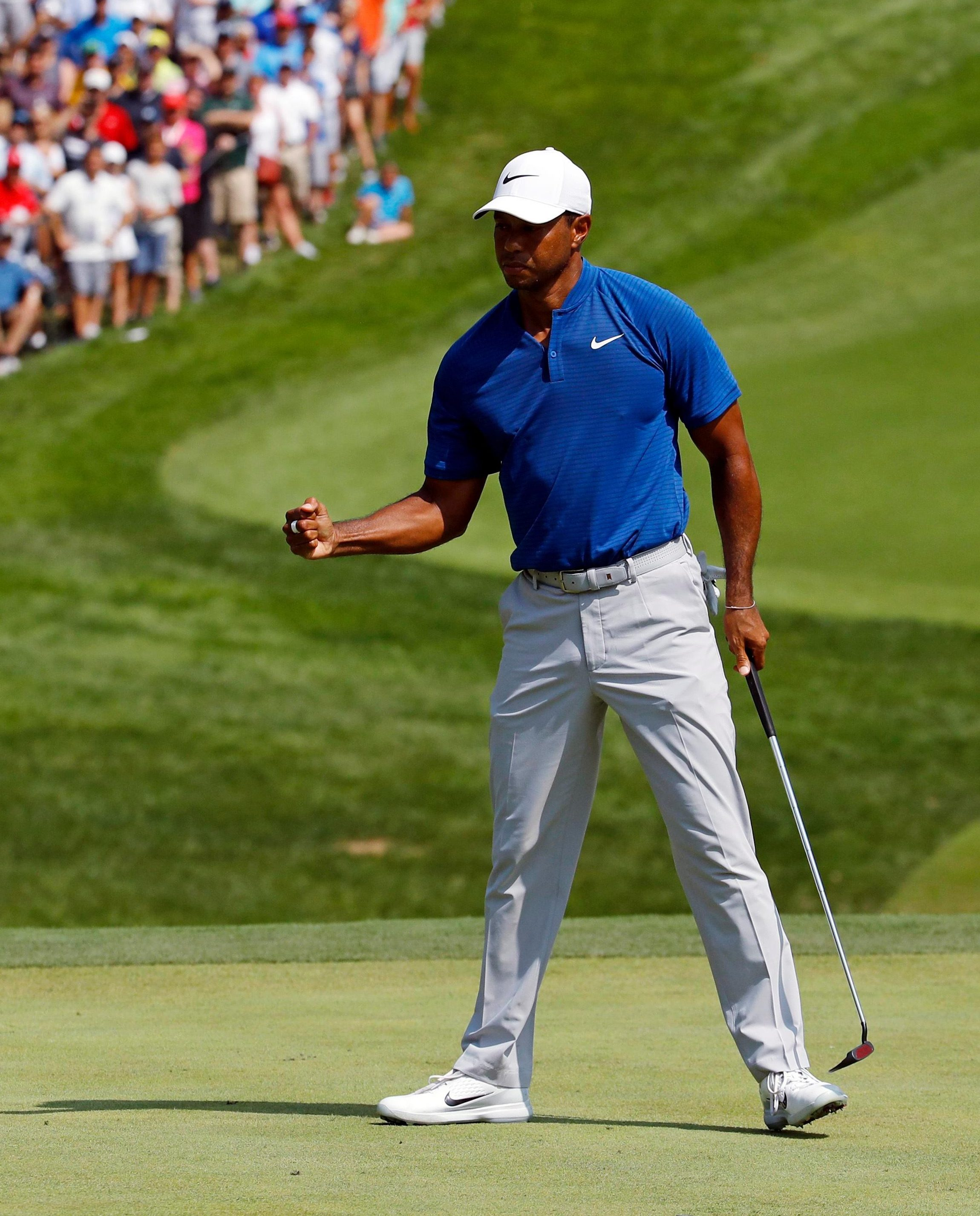 Tiger Woods got the crowds at Bellerive excited with his third round 66