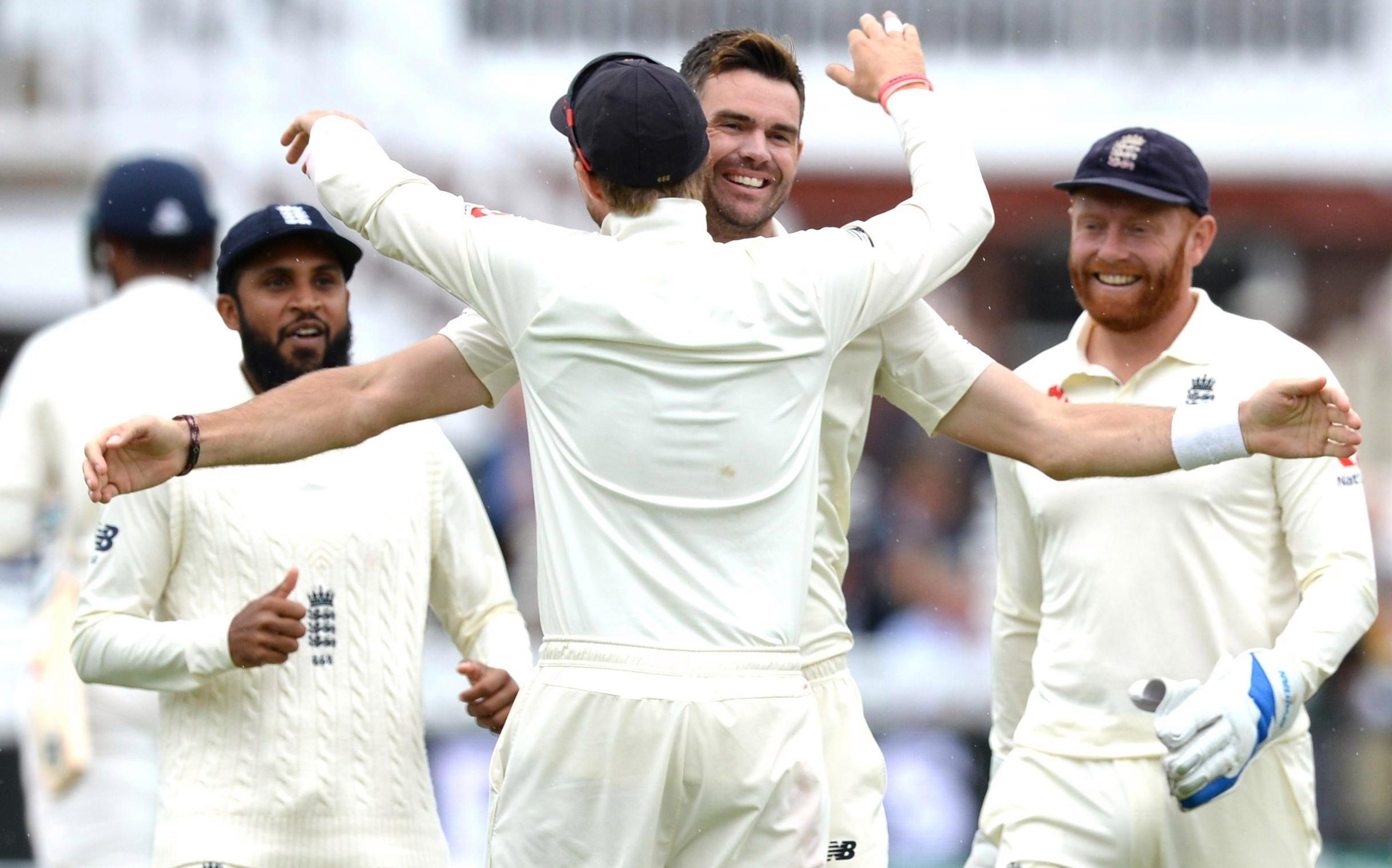 James Anderson was again outstanding as he shares England's fourth-day victory joy with skipper Joe Root, putting the hosts 2-0 up in the five-Test series