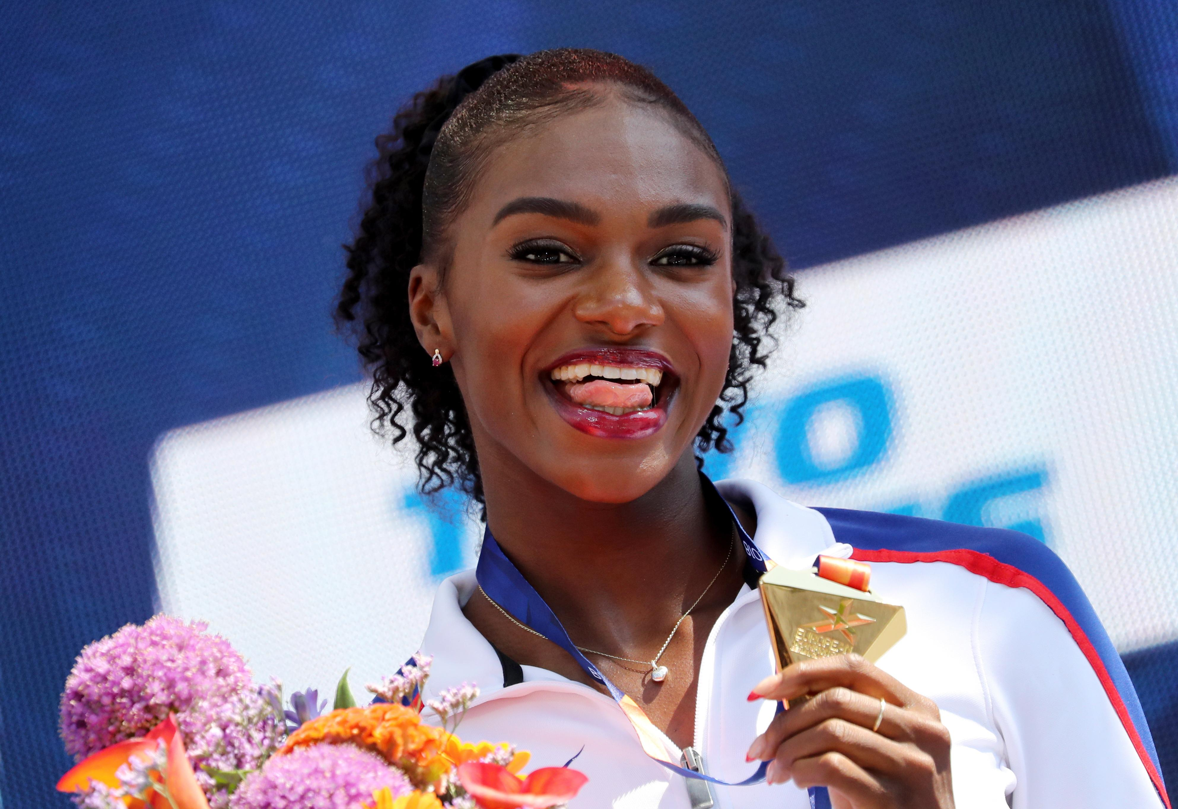 Asher-Smith won gold in the 100m, 200m and 4x100m