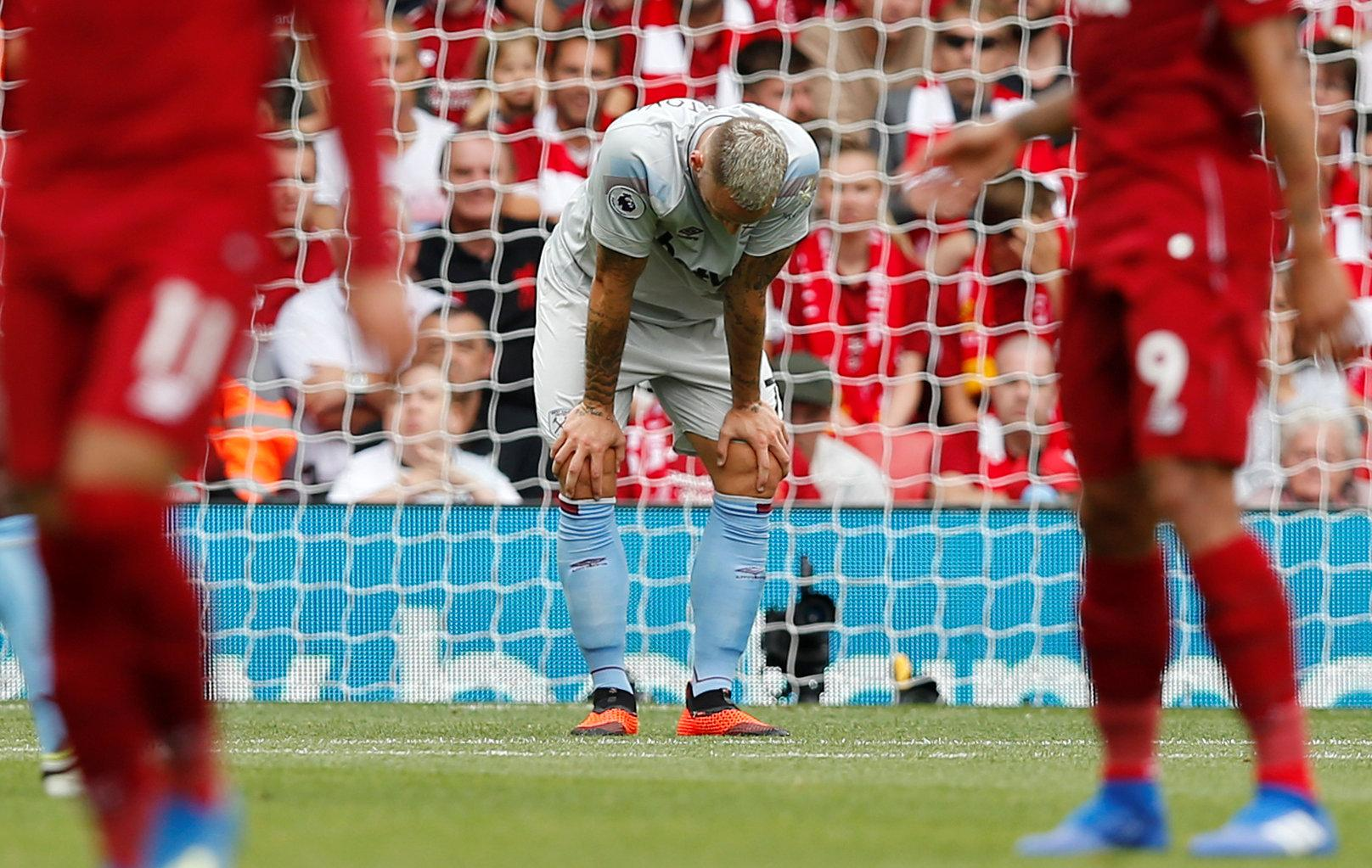 Marko Arnautovic struggled to impact the game for Hammers