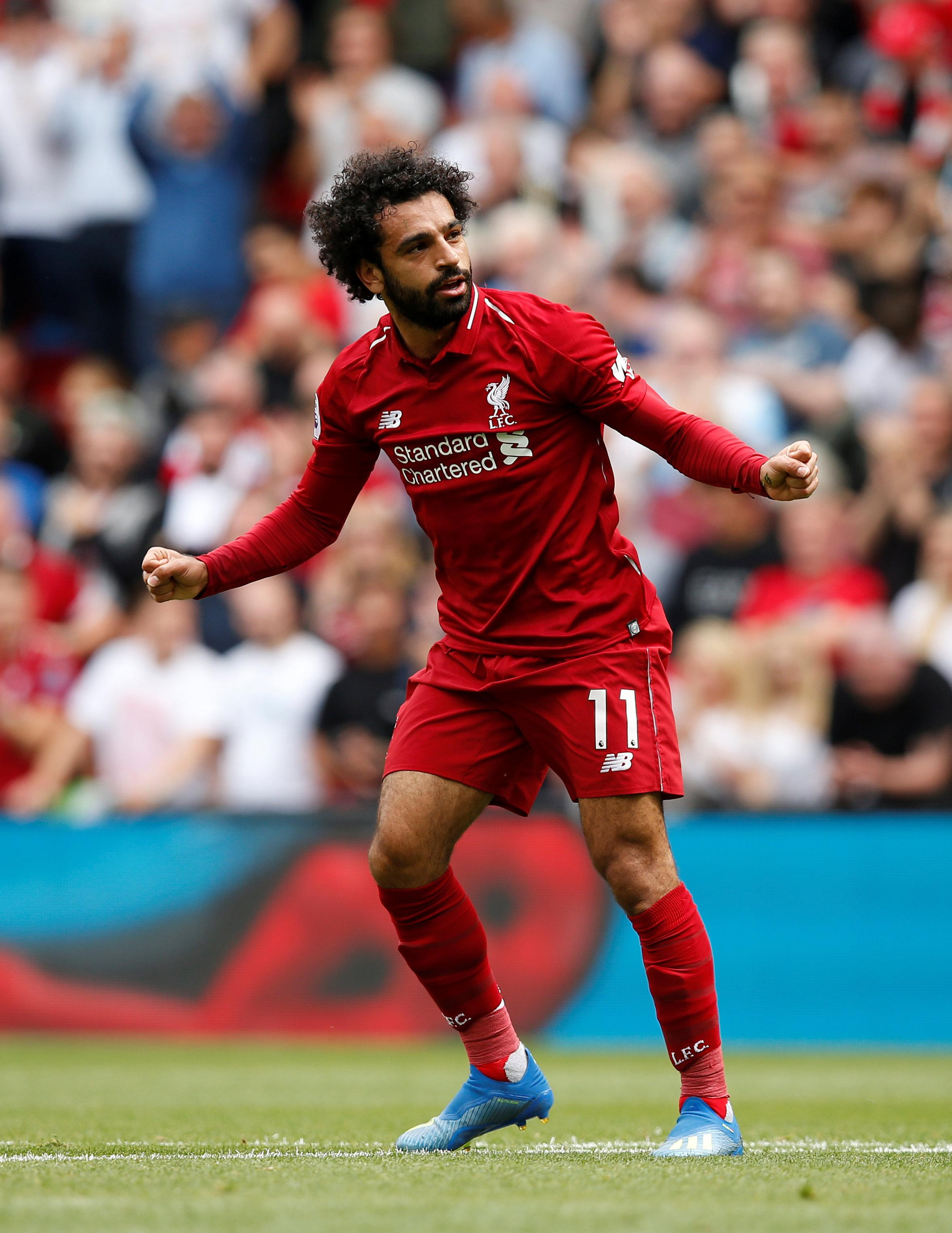 PFA Player of the Year Mohamed Salah put Liverpool ahead in the 19th minute