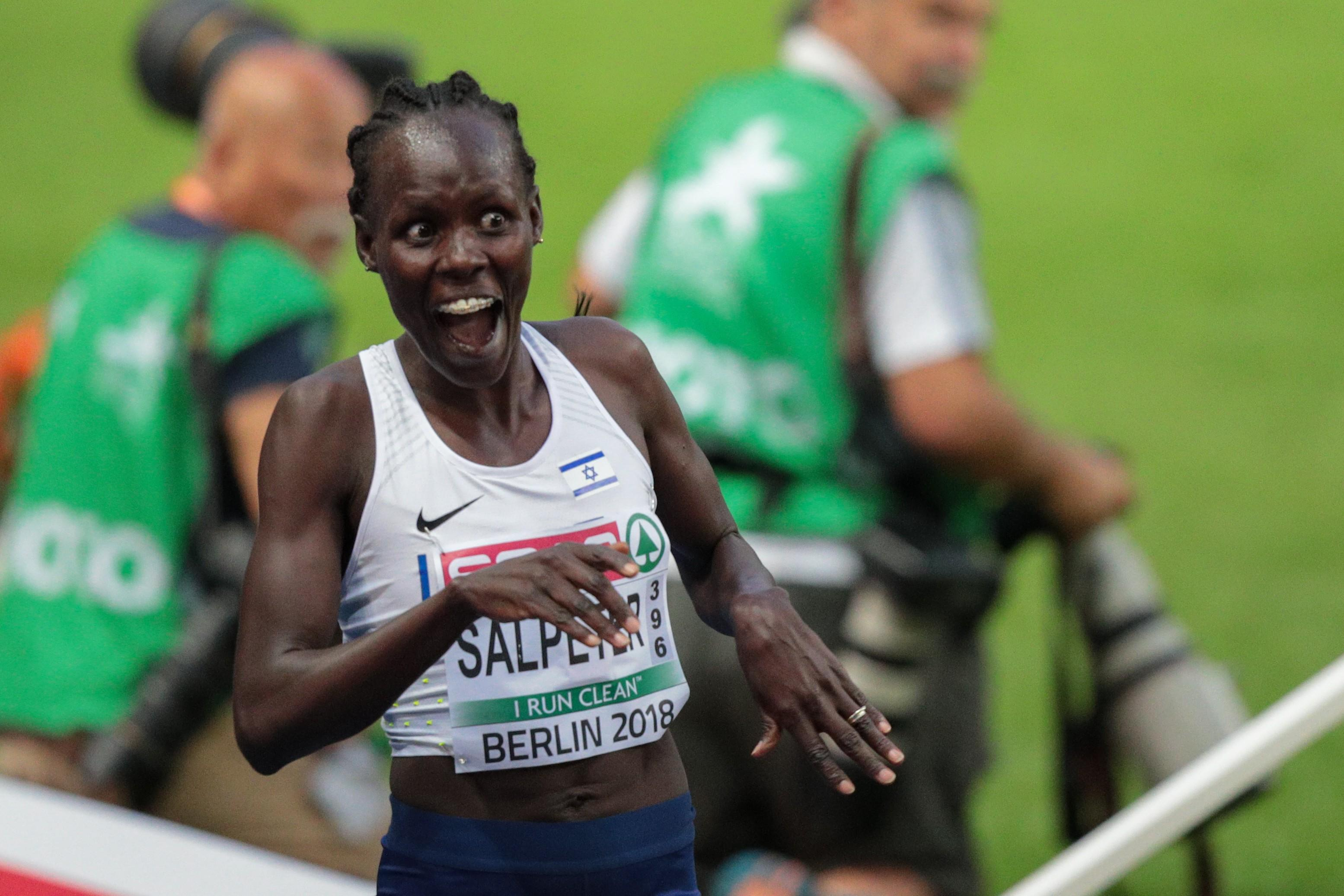 Israeli athlete Lonah Salpeter thinks she has won the silver medal in the 5,000m