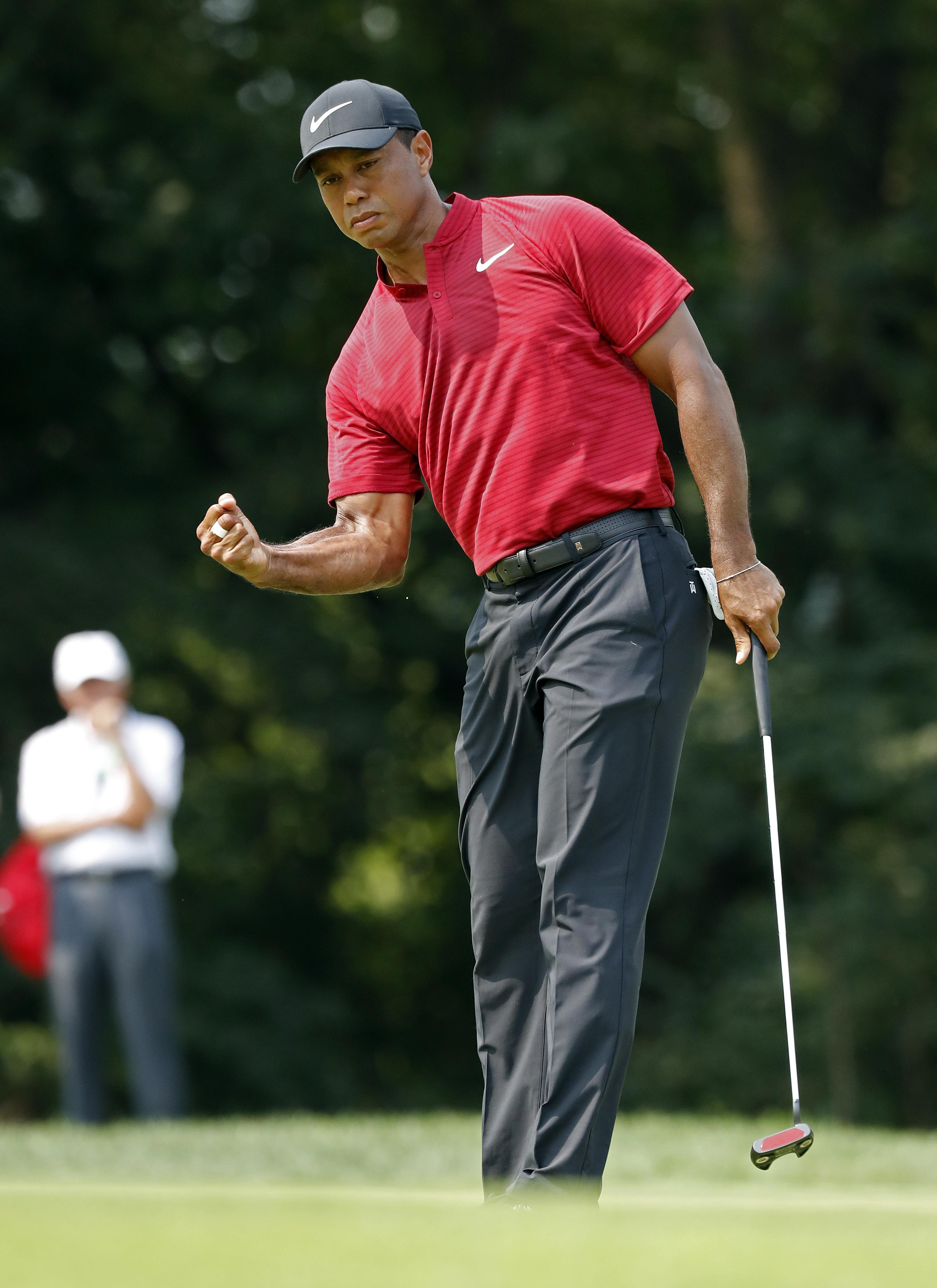 Tiger Woods electrified the air in St Louis as he made his move on the final day of the US PGA Championship