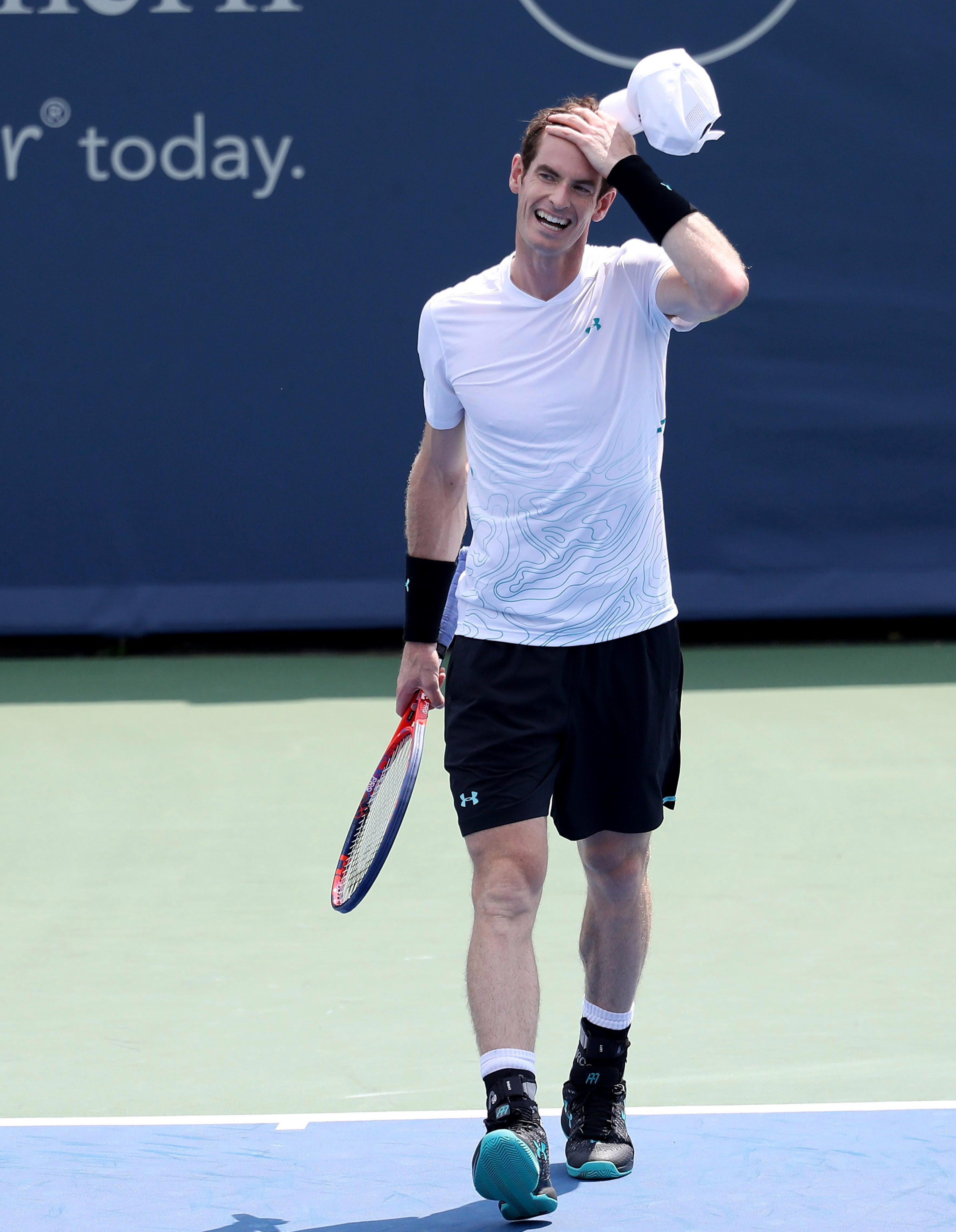 Andy Murray reacts to his latest setback as he battles to return to the top