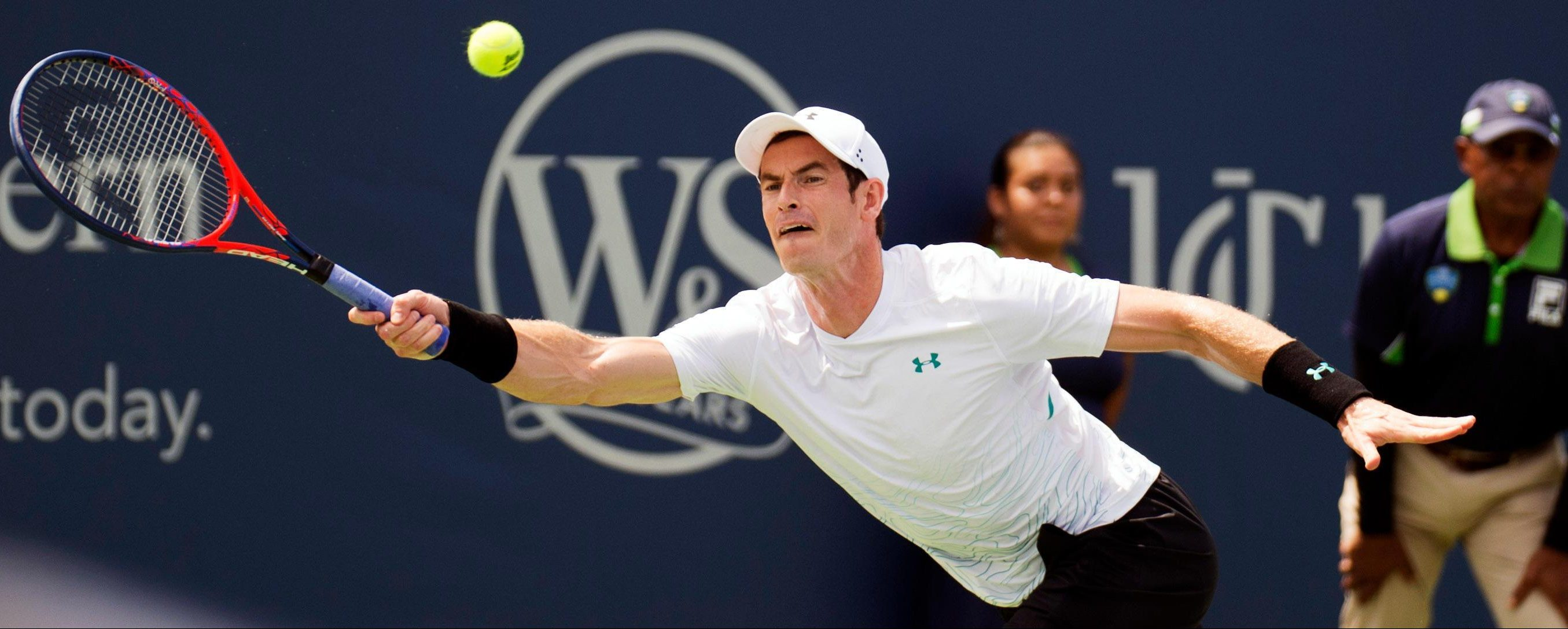 Andy Murray stormed back to win the second set but then his level dropped as Lucas Pouille won 6-1 1-6 6-4