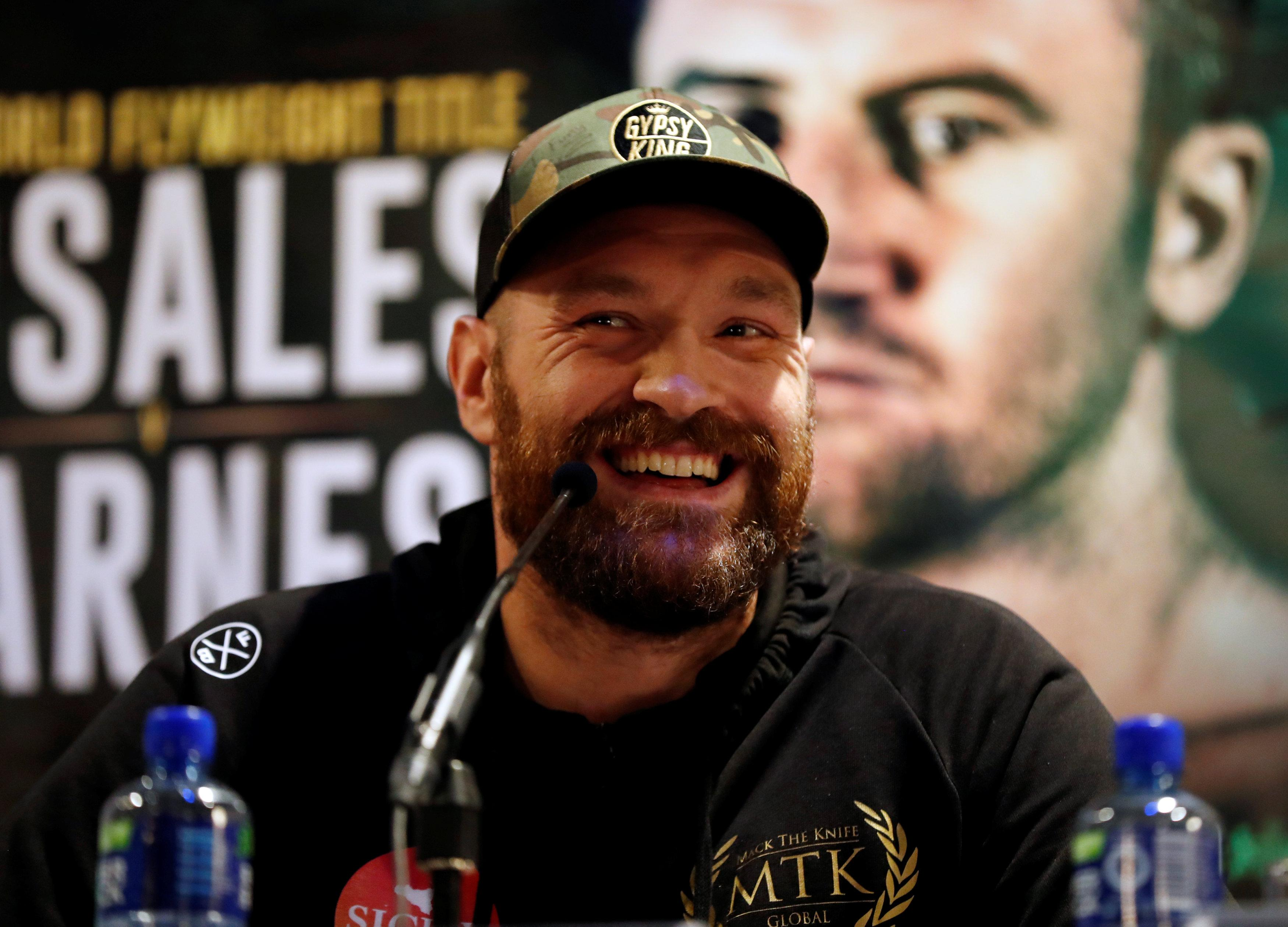 Tyson Fury seemed in fine spirits on Tuesday but admitted his future remains a mystery