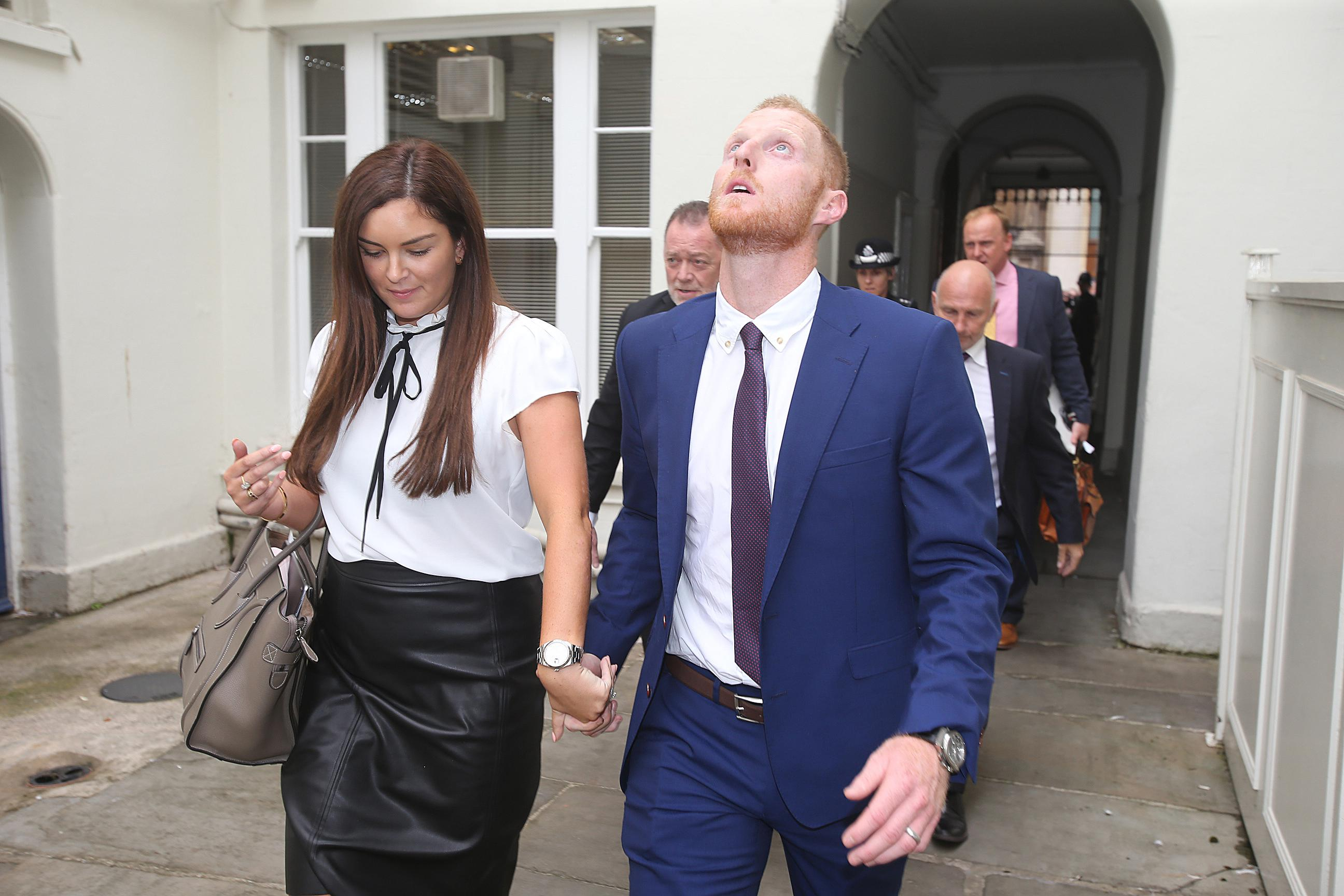 Ben Stokes fought back tears after being cleared of affray
