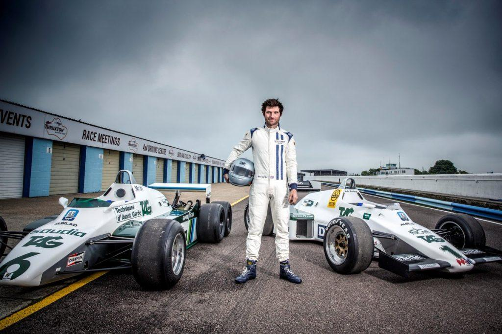 Guy Martin and his 1983 Williams FW08c Formula One car