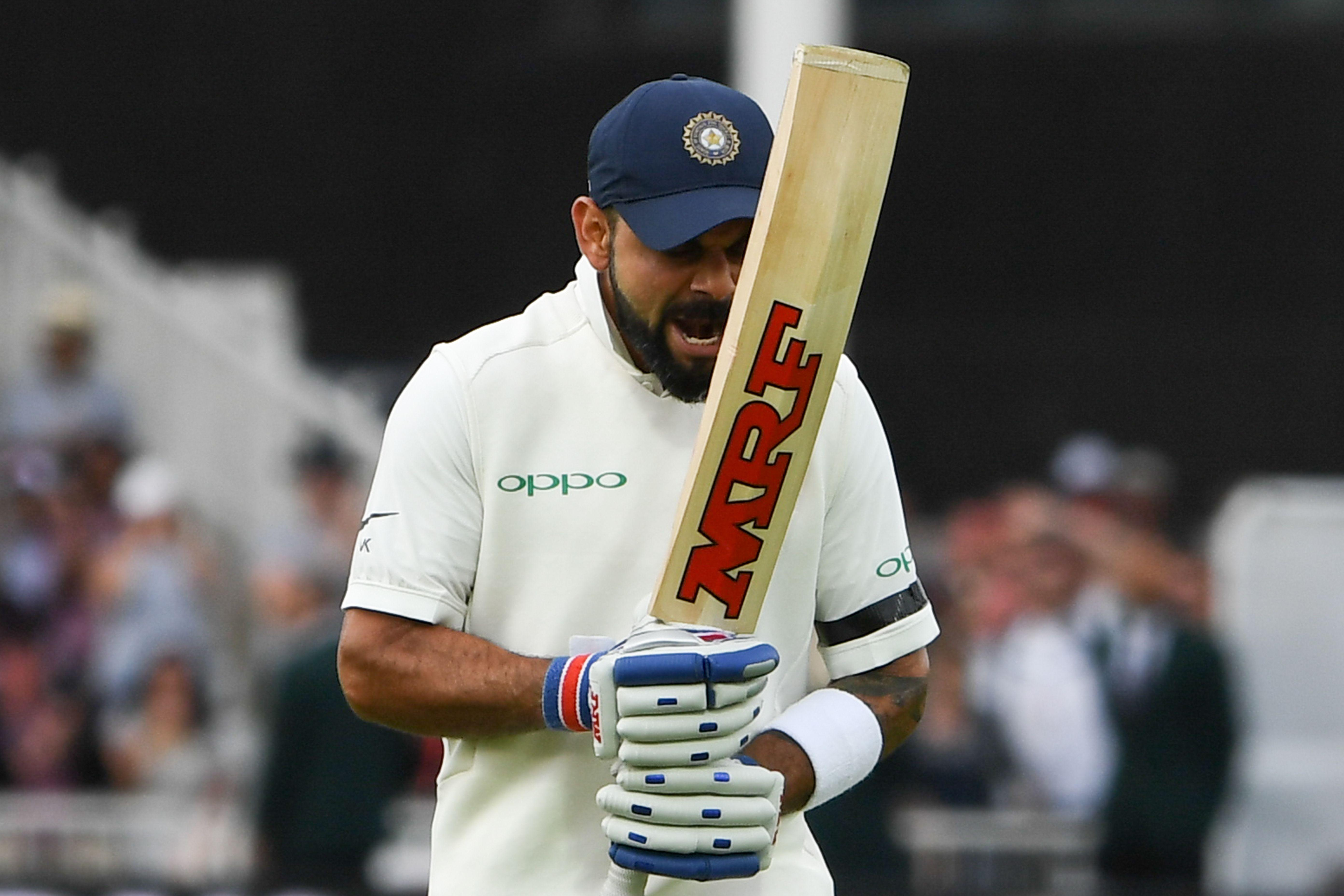 Kohli berates himself after being caught off the bowling of Adil Rashid three short of his century