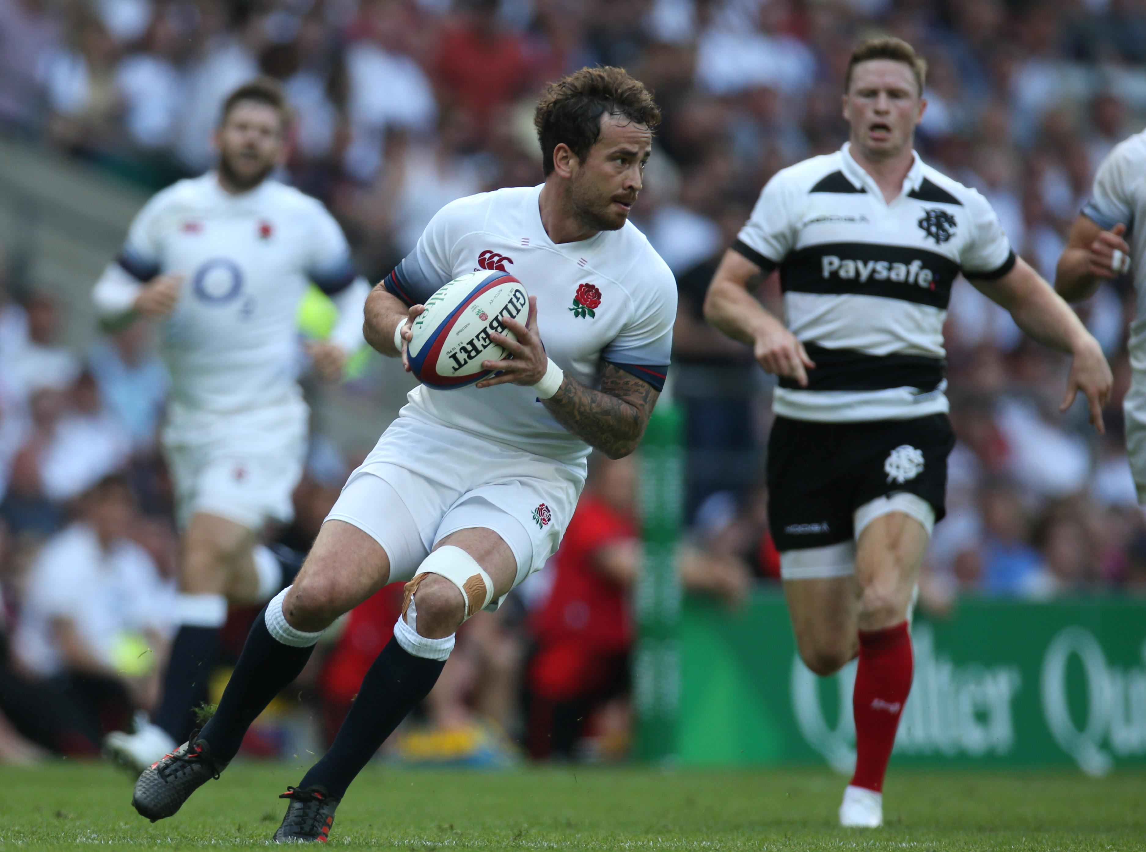 Cipriani in action for England during the summer