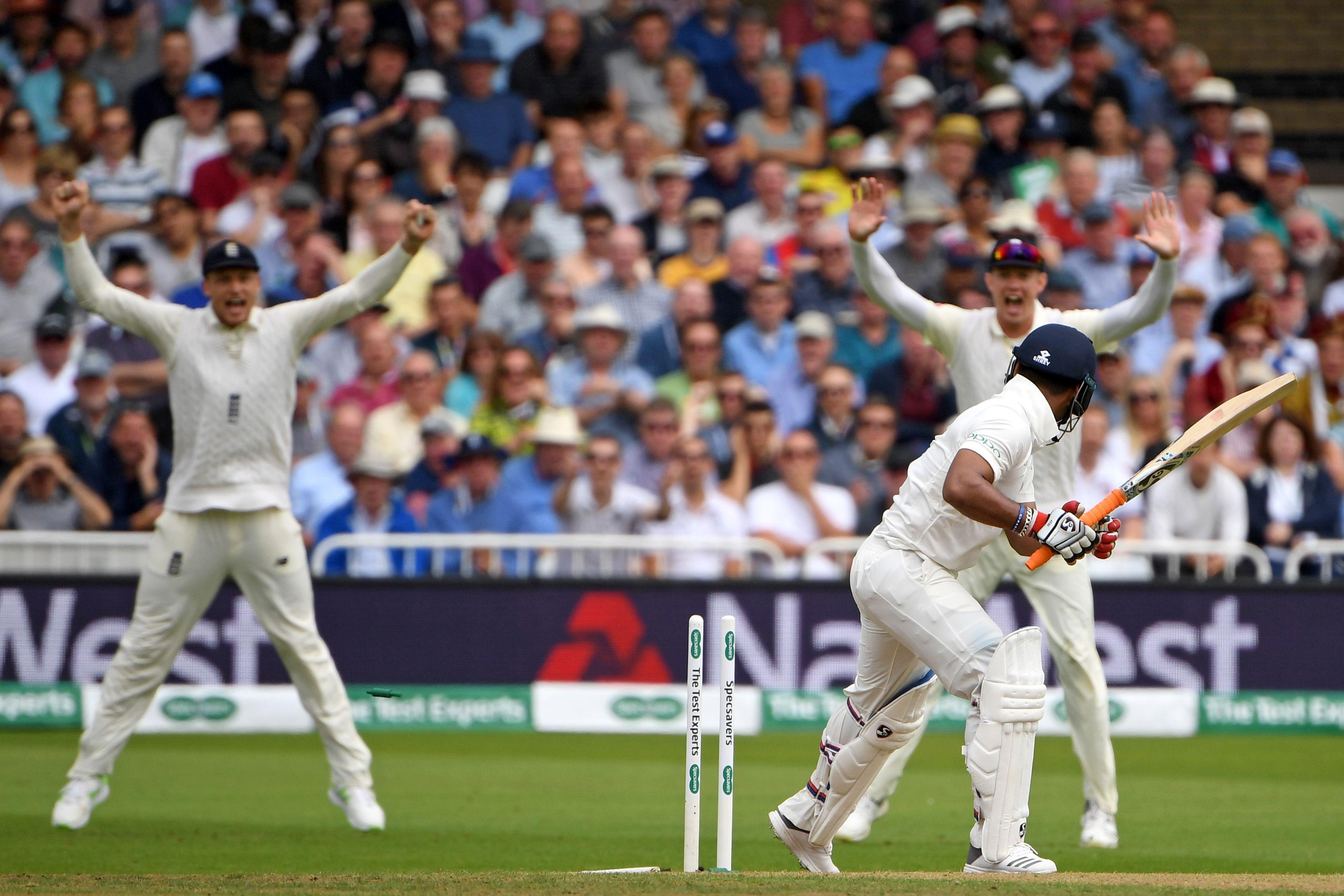 Stuart Broad confronted Rishabh Pant after bowling him on Sunday