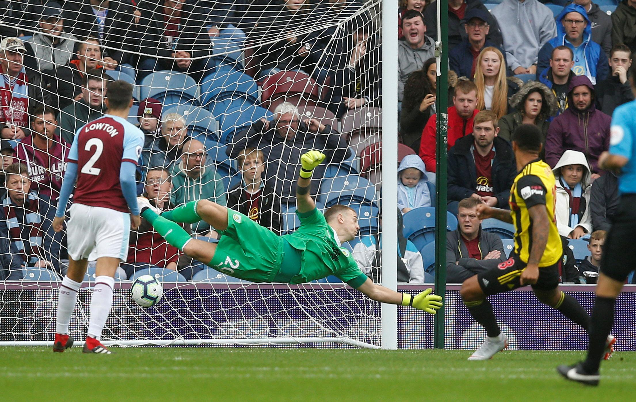 Watford striker Andre Gray opened the scoring against his former side at Turf Moor