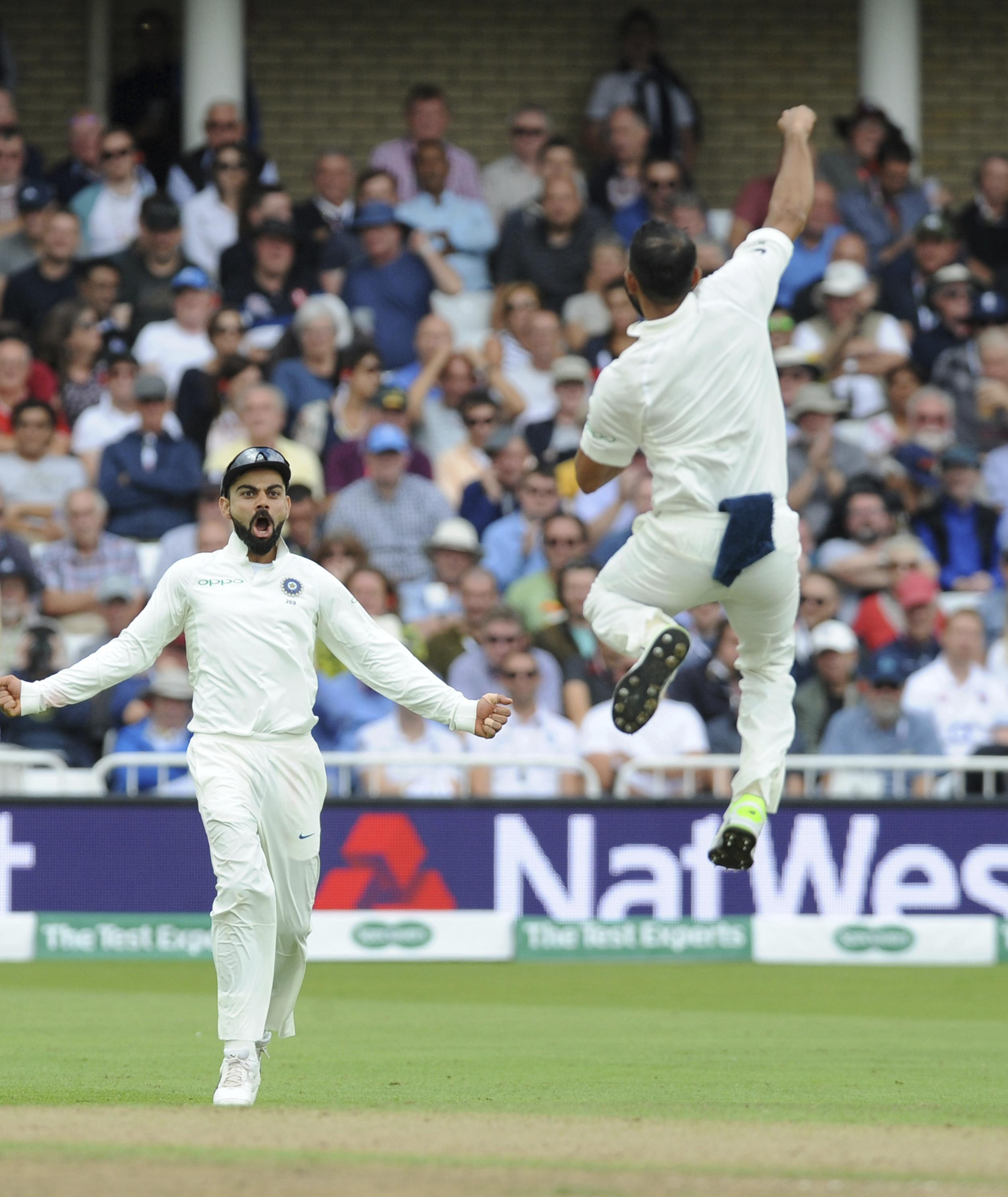 This was a familiar sight in Nottingham during the afternoon session as England lost all ten wickets in one session