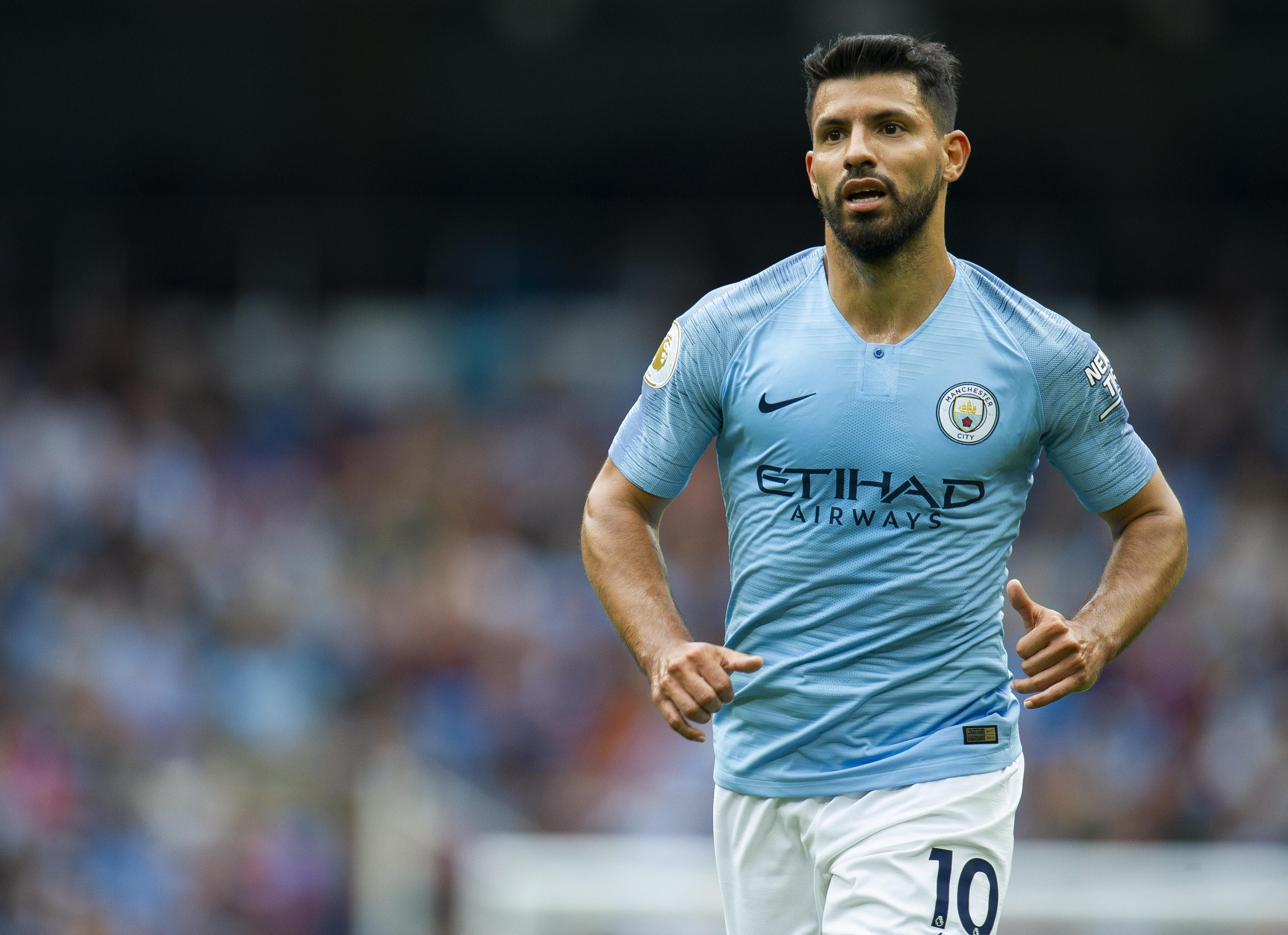 Sergio Aguero's delightful dink against Huddersfield could easily claim the prize