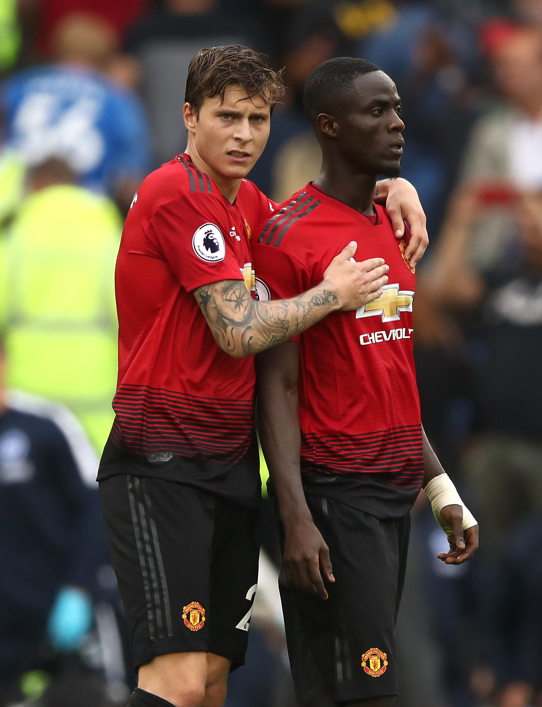 Eric Bailly and Victor Lindelof came under fire for their performances against Brighton
