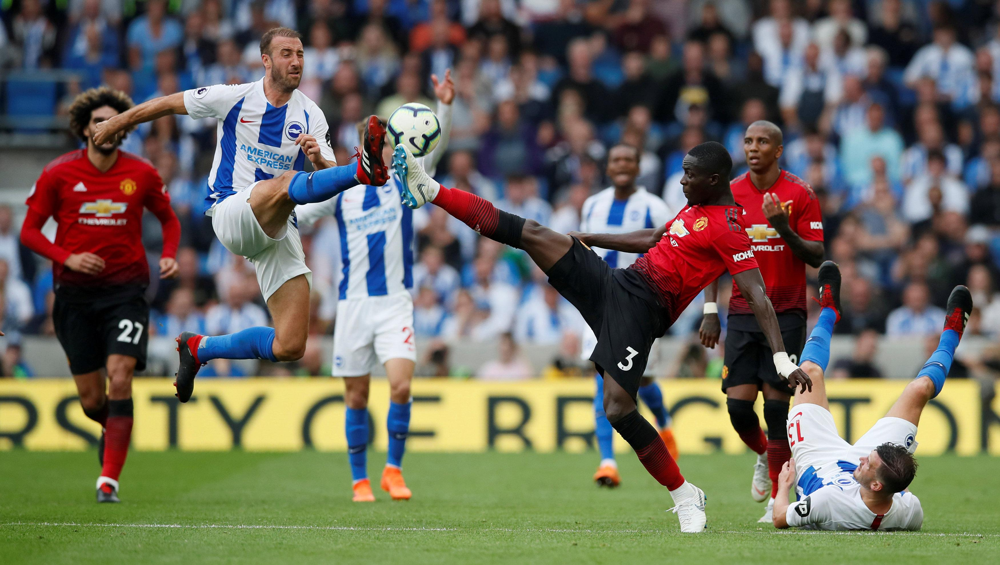 Brighton gave Manchester United defender Eric Bailly nightmares